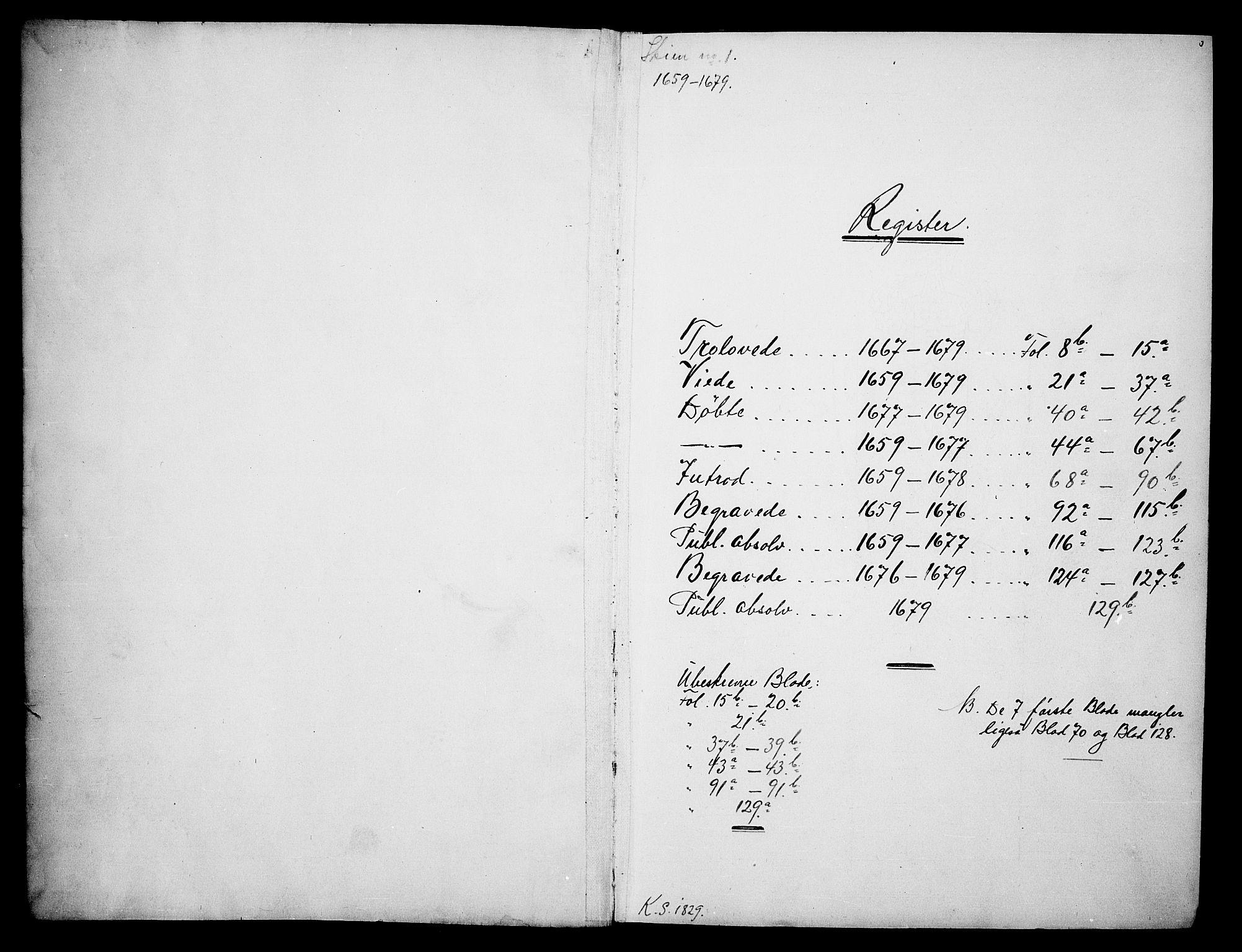 SAKO, Skien kirkebøker, F/Fa/L0001: Ministerialbok nr. 1, 1659-1679