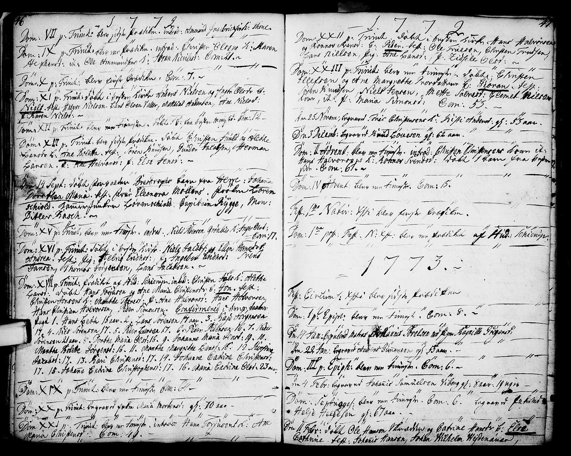 SAKO, Porsgrunn kirkebøker , F/Fa/L0002: Ministerialbok nr. 2, 1764-1814, s. 46-47
