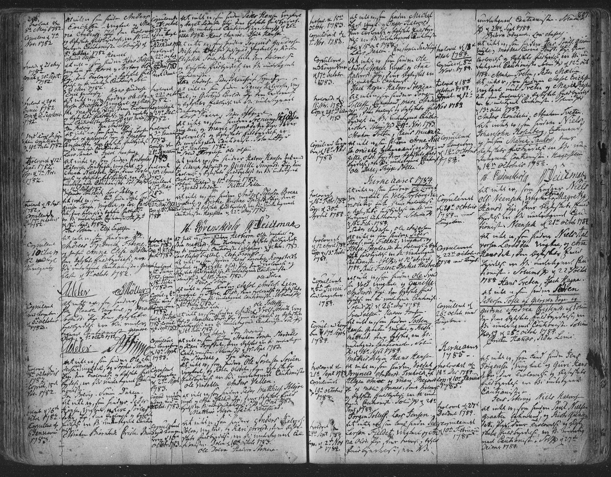 SAKO, Solum kirkebøker, F/Fa/L0003: Ministerialbok nr. I 3, 1761-1814, s. 206-207