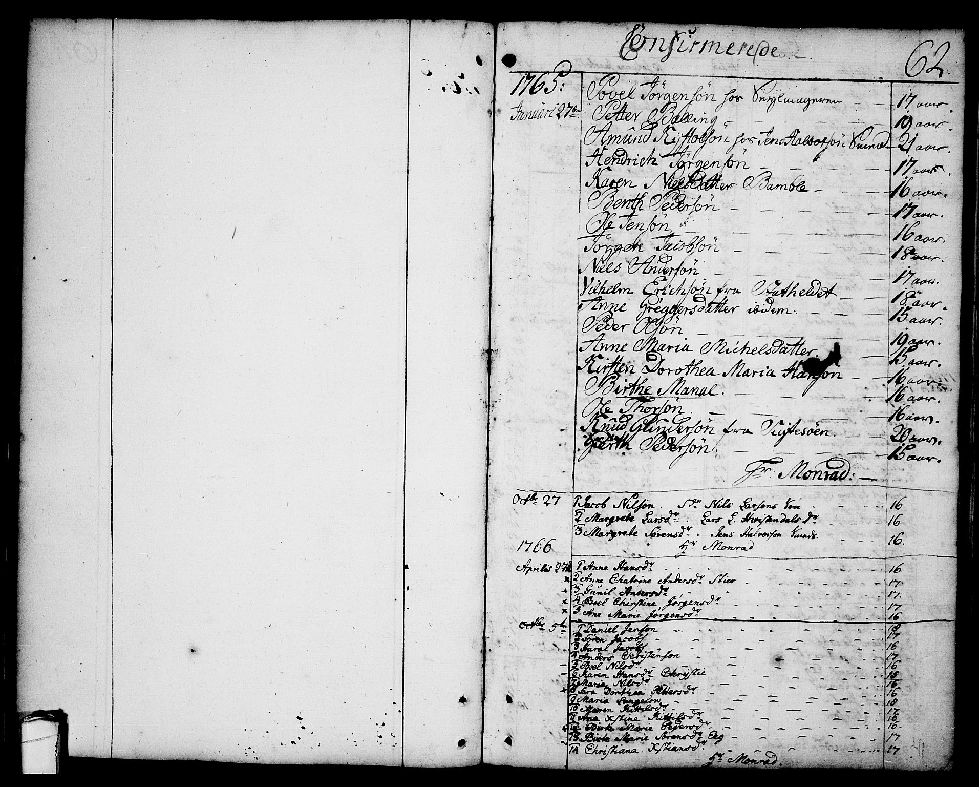 SAKO, Brevik kirkebøker, F/Fa/L0003: Ministerialbok nr. 3, 1764-1814, s. 62