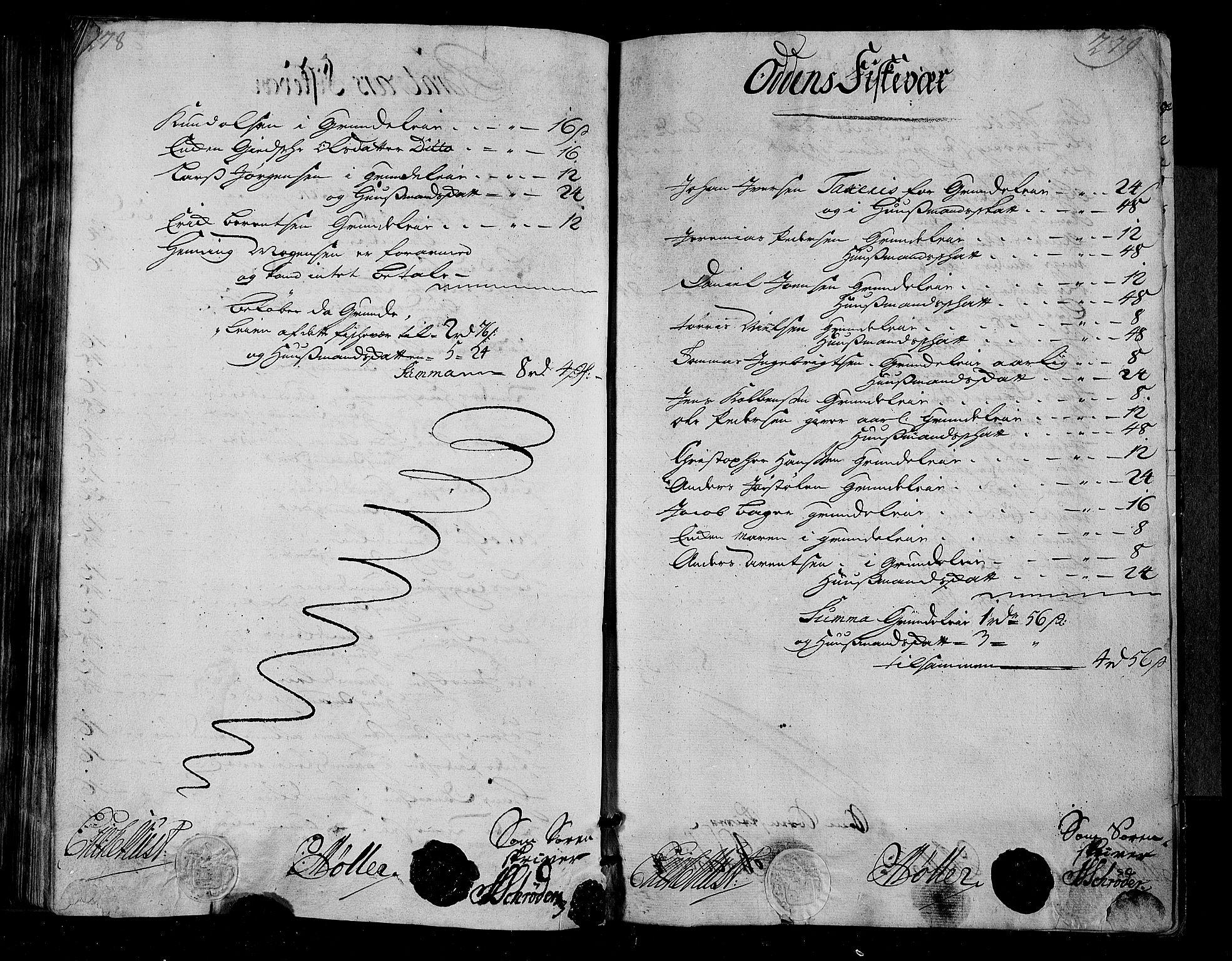 RA, Rentekammeret inntil 1814, Realistisk ordnet avdeling, N/Nb/Nbf/L0155: Nordmøre matrikkelprotokoll, 1721-1723, s. 278-279