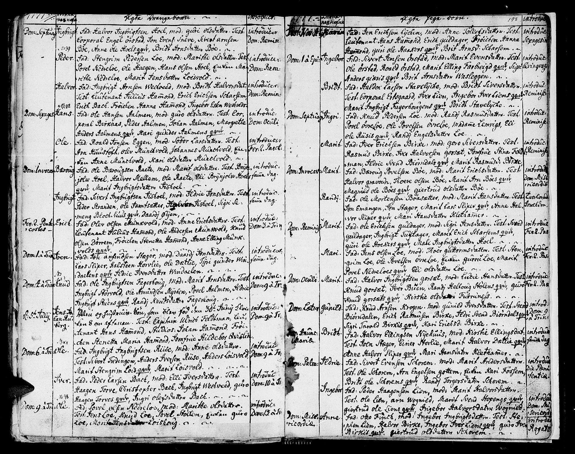SAT, Ministerialprotokoller, klokkerbøker og fødselsregistre - Sør-Trøndelag, 678/L0891: Ministerialbok nr. 678A01, 1739-1780, s. 198