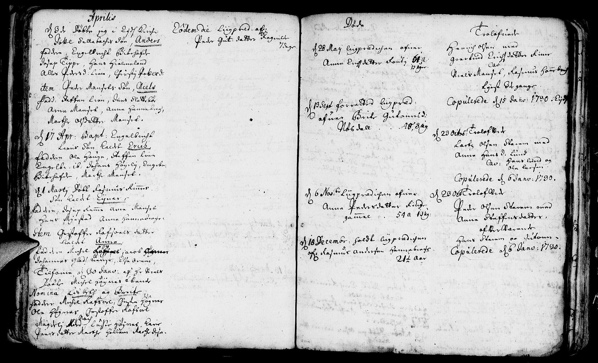 SAB, Eid Sokneprestembete, H/Haa: Ministerialbok nr. A 1, 1722-1740, s. 47