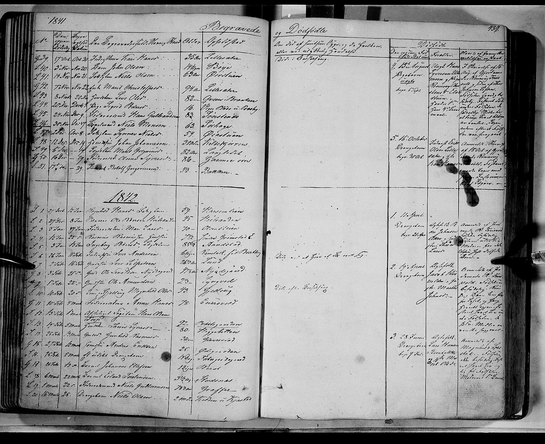 SAH, Lom prestekontor, K/L0006: Ministerialbok nr. 6B, 1837-1863, s. 439
