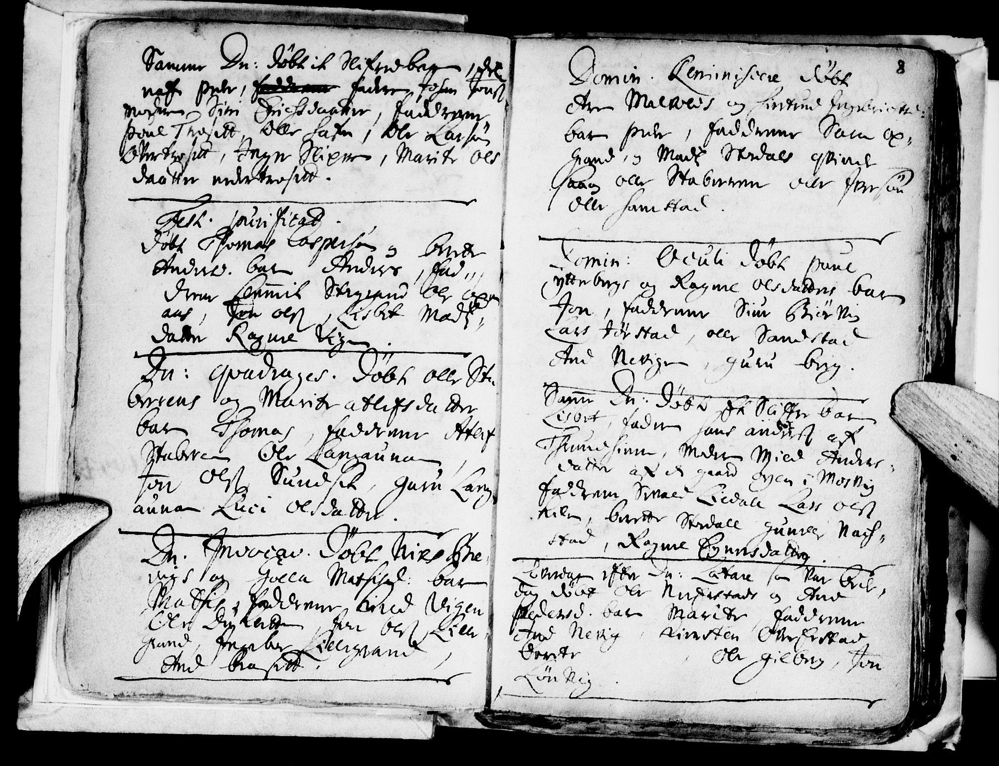 SAT, Ministerialprotokoller, klokkerbøker og fødselsregistre - Nord-Trøndelag, 722/L0214: Ministerialbok nr. 722A01, 1692-1718, s. 8