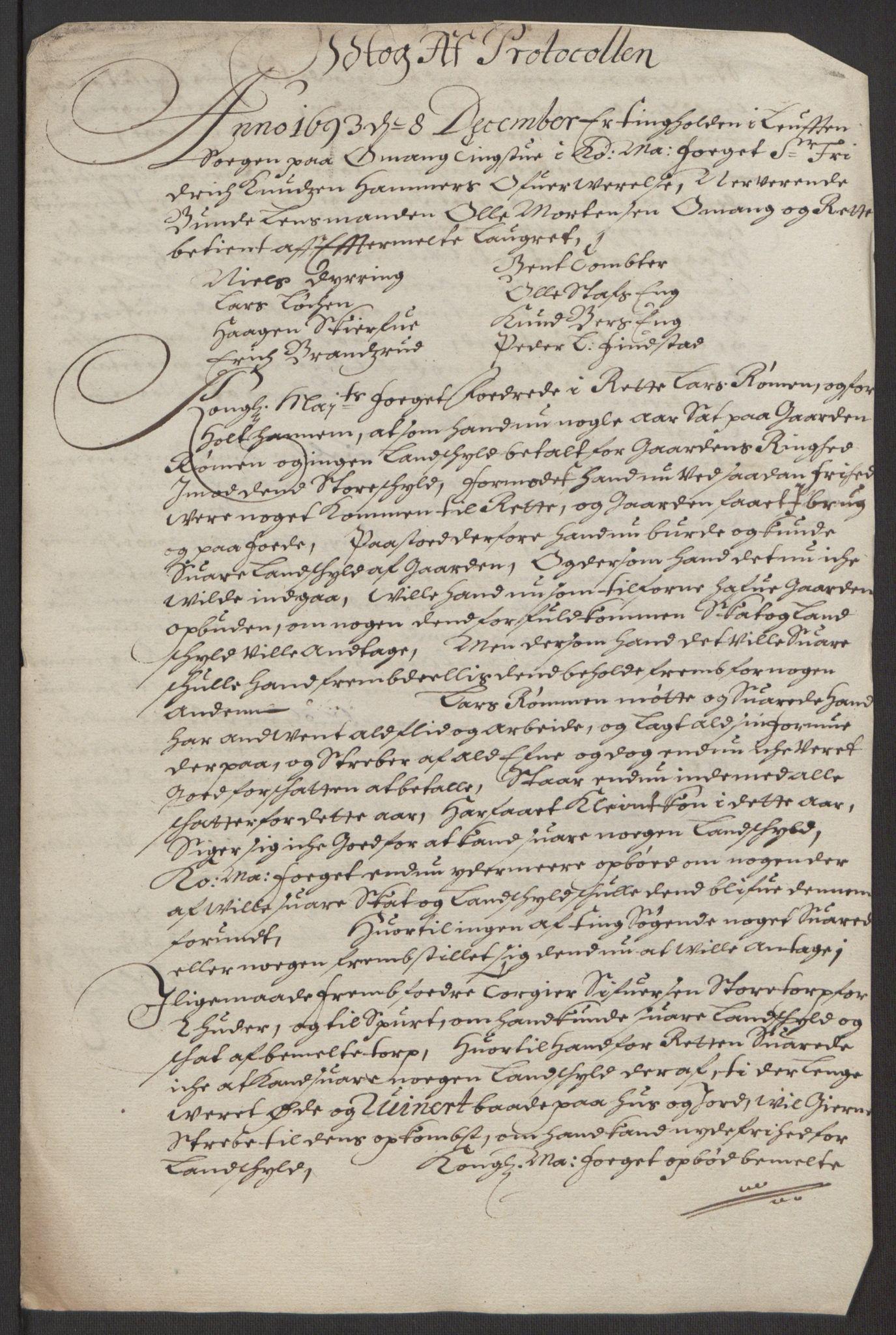RA, Rentekammeret inntil 1814, Reviderte regnskaper, Fogderegnskap, R16/L1034: Fogderegnskap Hedmark, 1693, s. 222