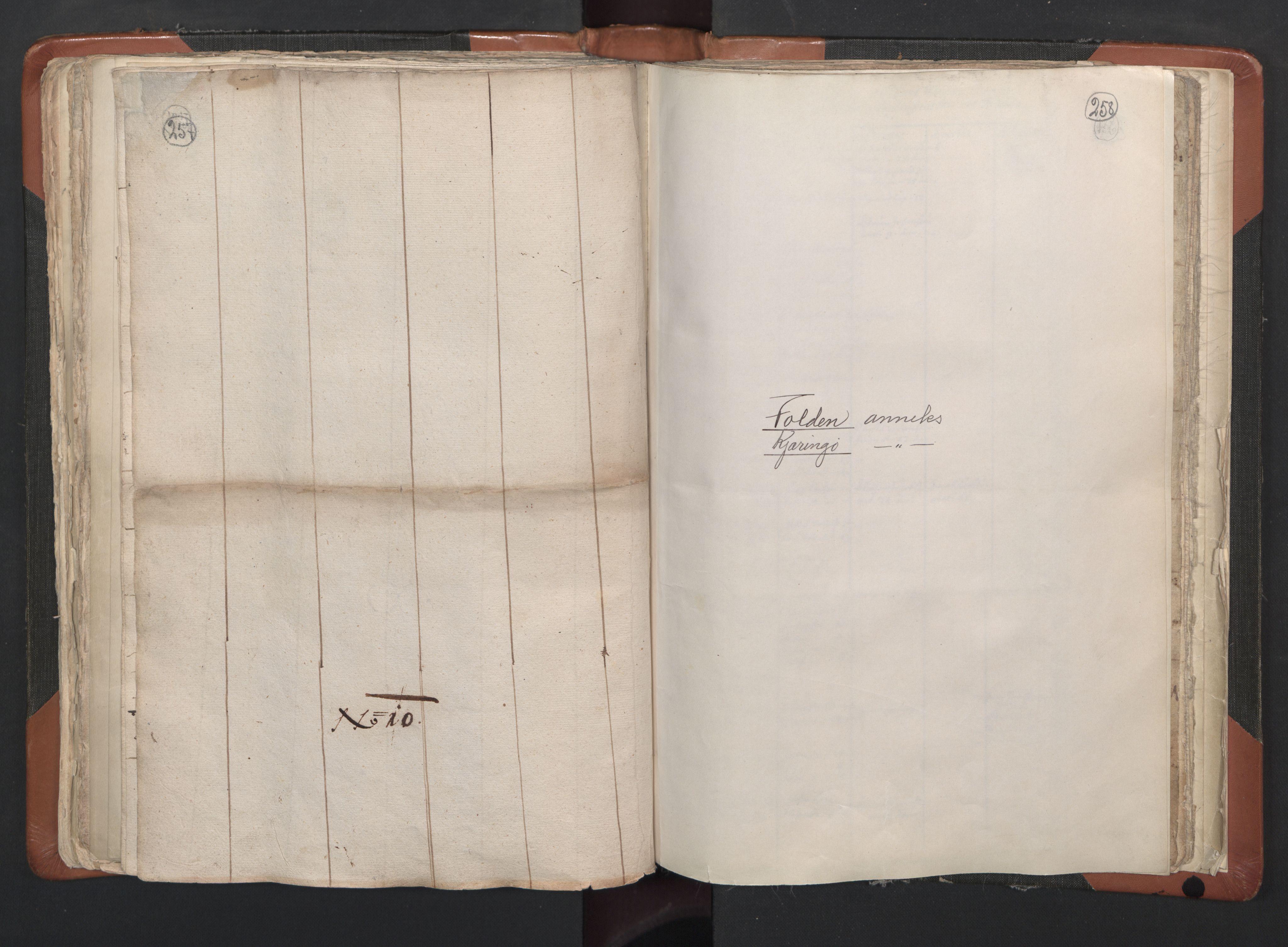 RA, Sogneprestenes manntall 1664-1666, nr. 35: Helgeland prosti og Salten prosti, 1664-1666, s. 257-258