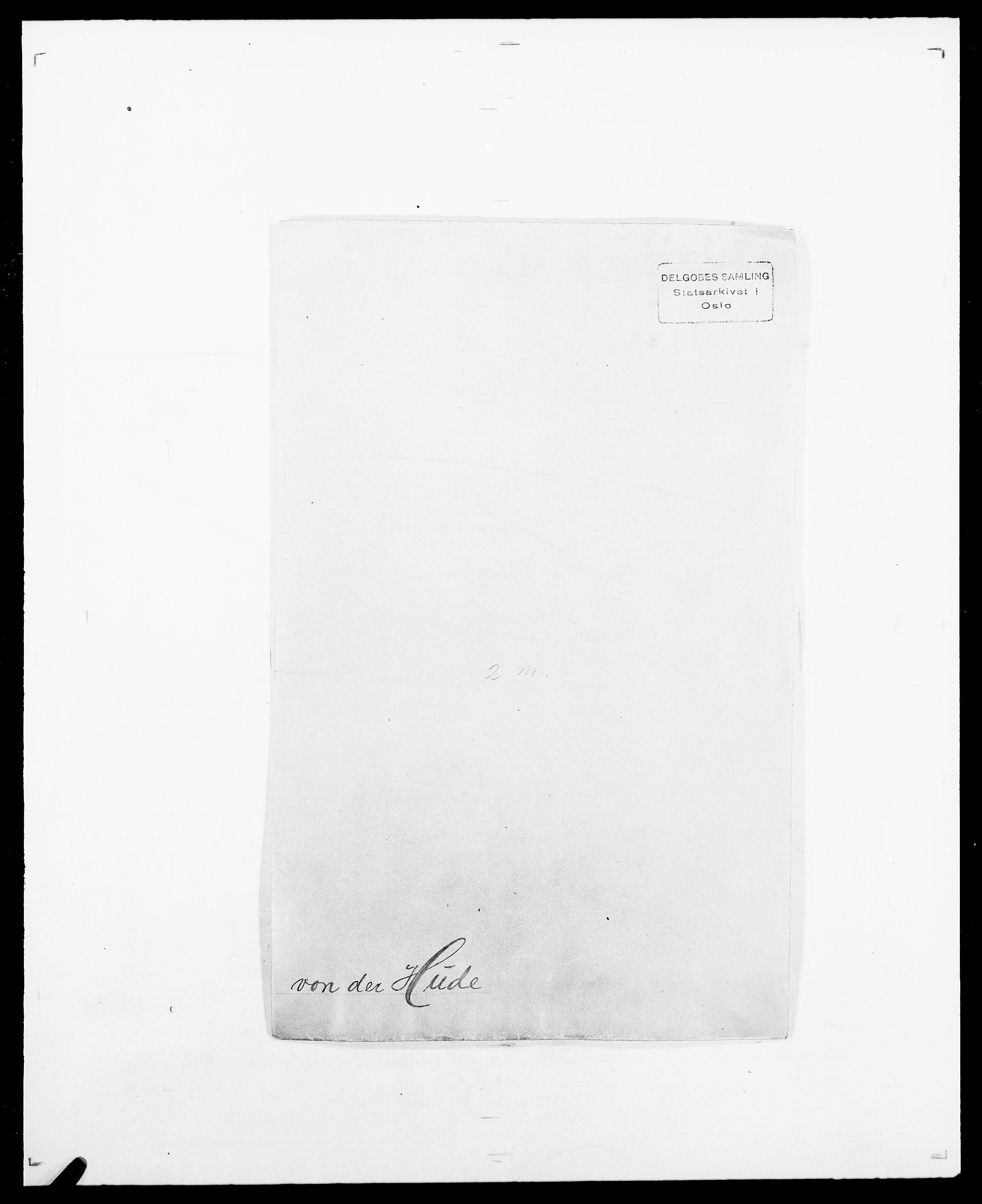 SAO, Delgobe, Charles Antoine - samling, D/Da/L0019: van der Hude - Joys, s. 1