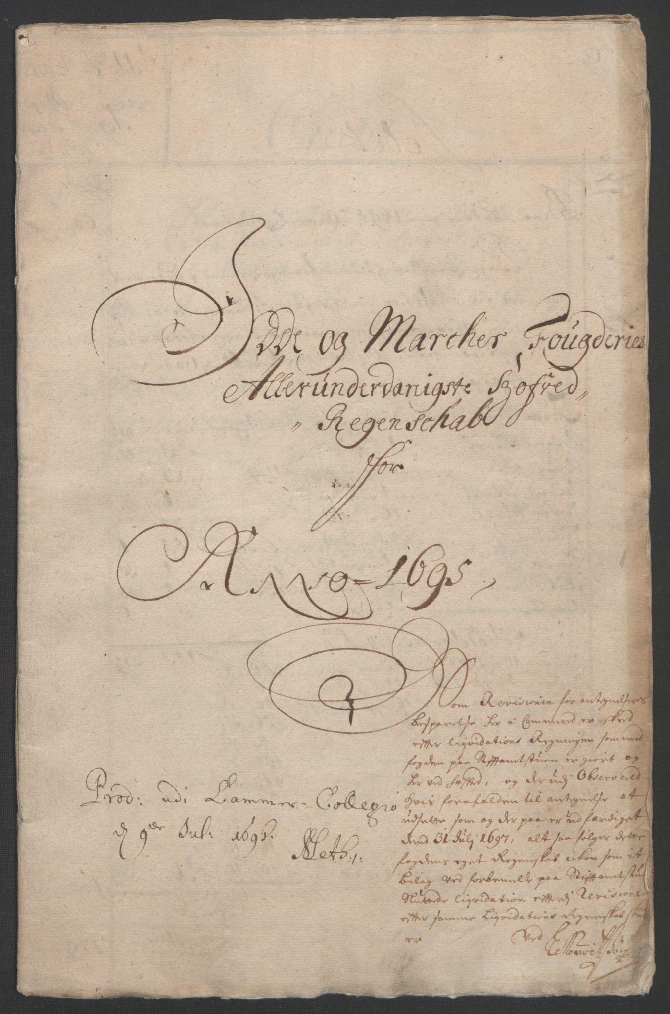 RA, Rentekammeret inntil 1814, Reviderte regnskaper, Fogderegnskap, R01/L0012: Fogderegnskap Idd og Marker, 1694-1695, s. 160