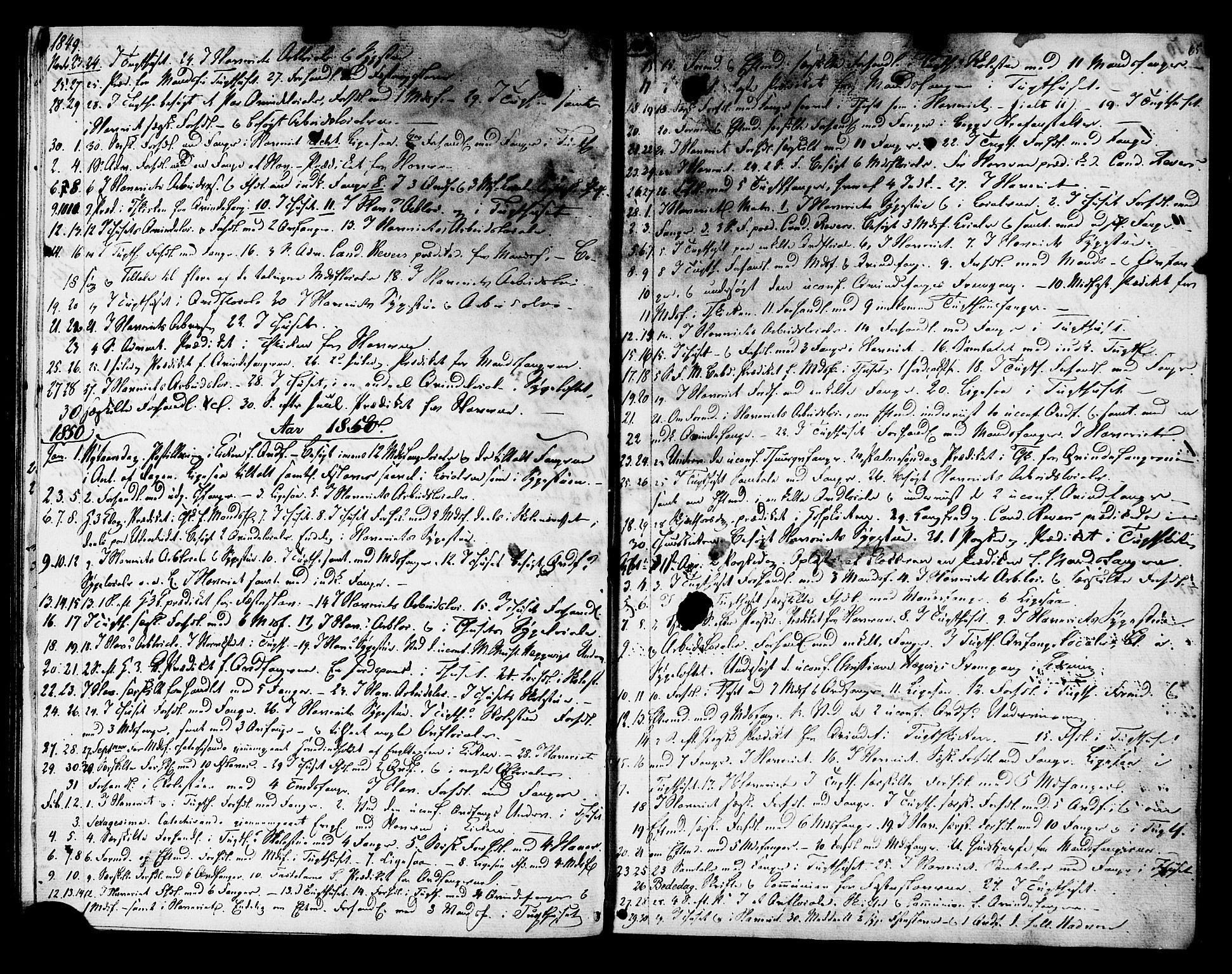 SAT, Ministerialprotokoller, klokkerbøker og fødselsregistre - Sør-Trøndelag, 624/L0480: Ministerialbok nr. 624A01, 1841-1864, s. 65