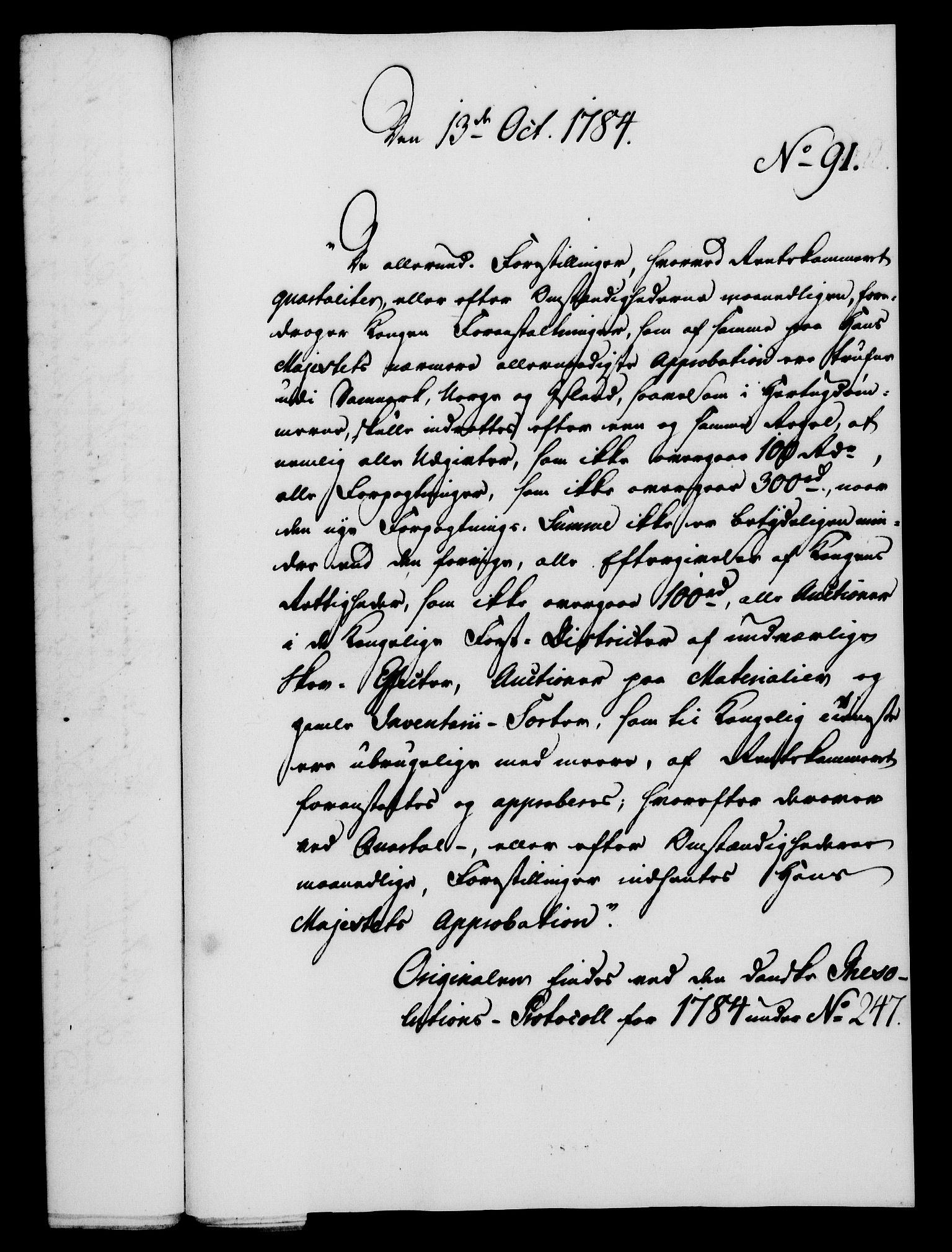 RA, Rentekammeret, Kammerkanselliet, G/Gf/Gfa/L0066: Norsk relasjons- og resolusjonsprotokoll (merket RK 52.66), 1784, s. 639