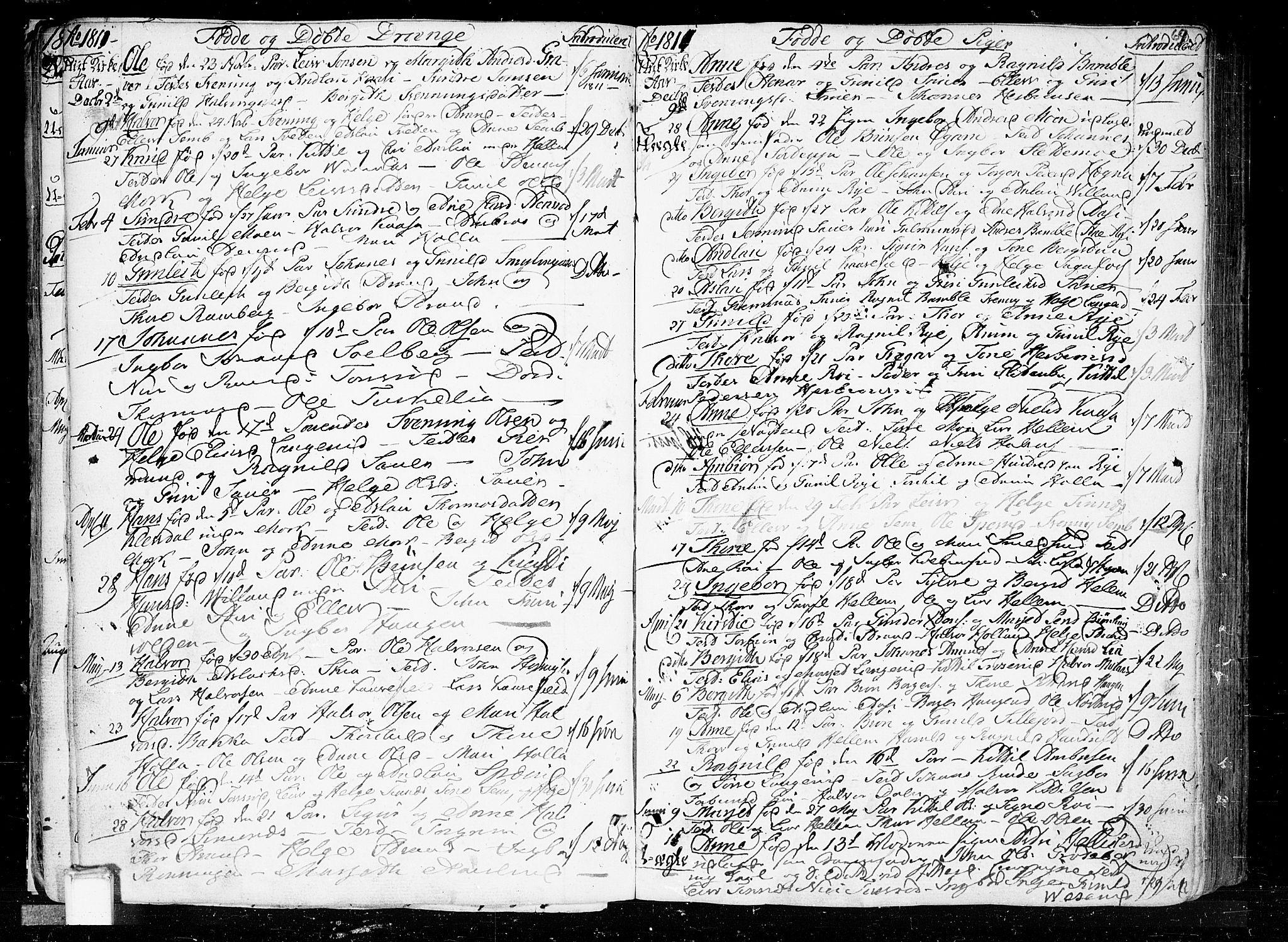 SAKO, Heddal kirkebøker, F/Fa/L0004: Ministerialbok nr. I 4, 1784-1814, s. 69