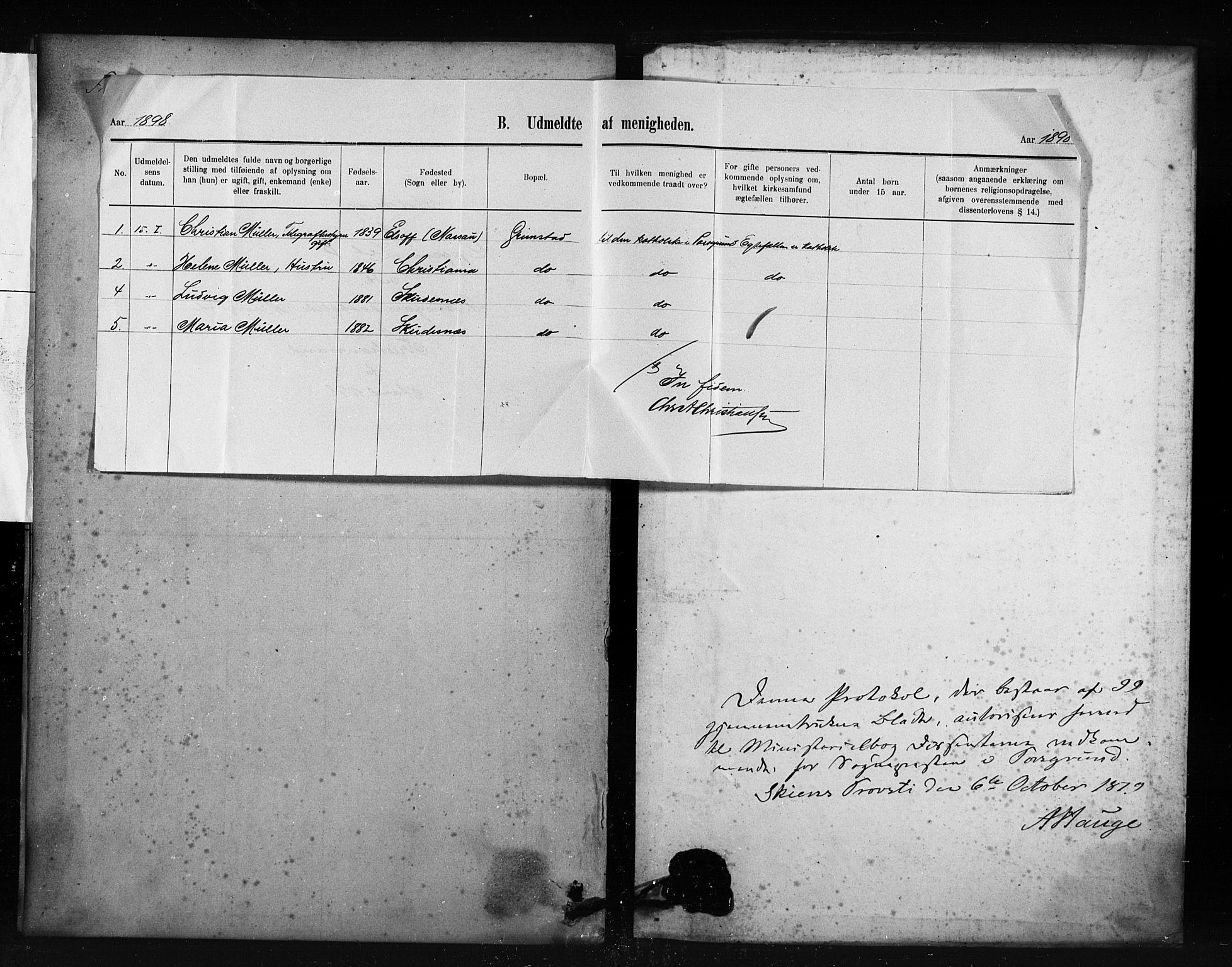 SAKO, Porsgrunn kirkebøker , F/Fa/L0009: Ministerialbok nr. 9, 1878-1923
