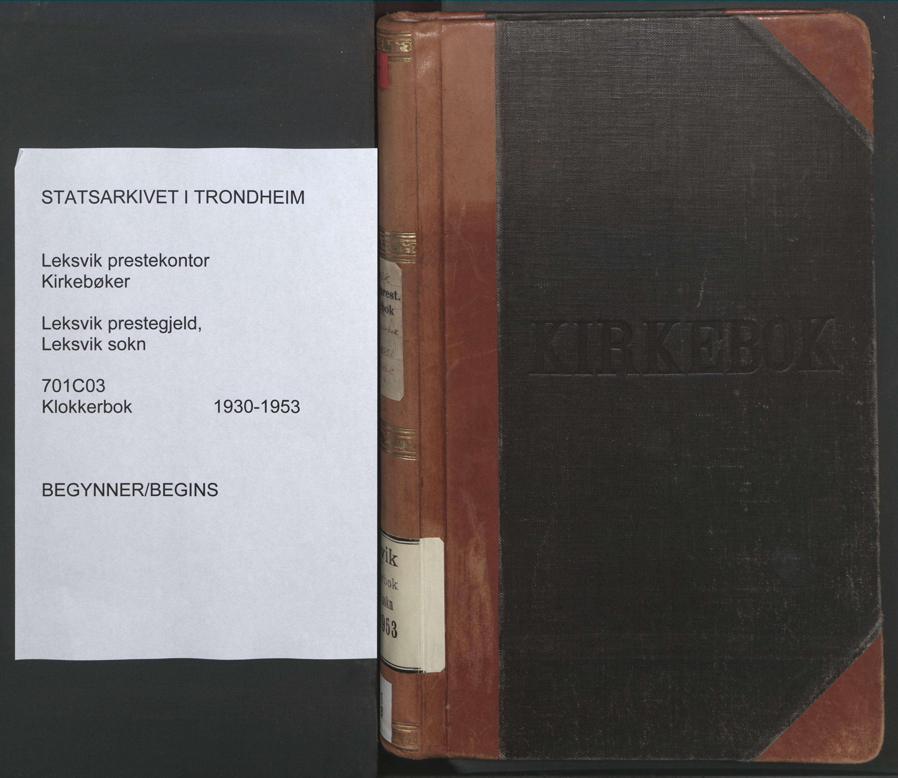 SAT, Ministerialprotokoller, klokkerbøker og fødselsregistre - Nord-Trøndelag, 701/L0019: Klokkerbok nr. 701C03, 1930-1953