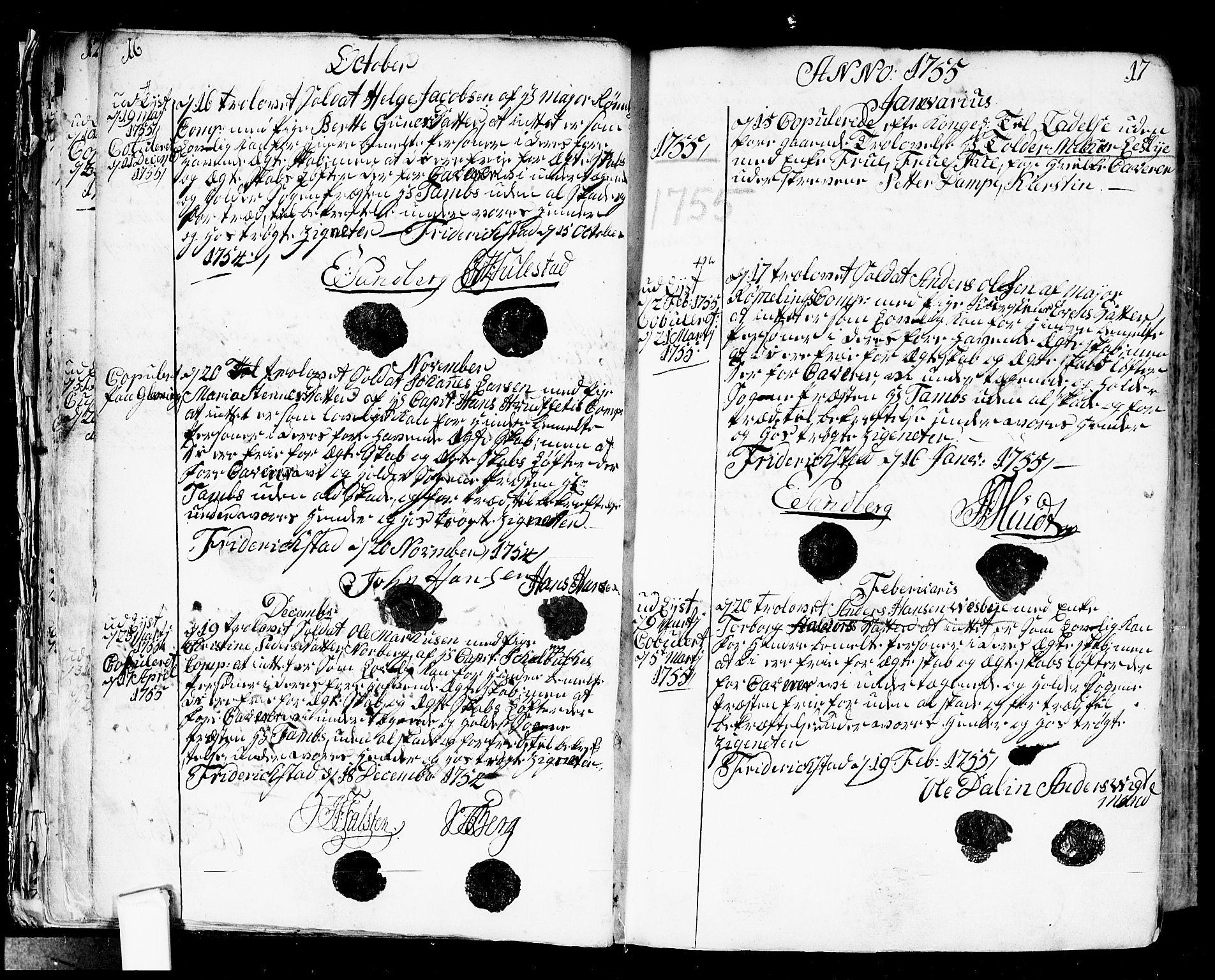 SAO, Fredrikstad prestekontor Kirkebøker, F/Fa/L0002: Ministerialbok nr. 2, 1750-1804, s. 16-17