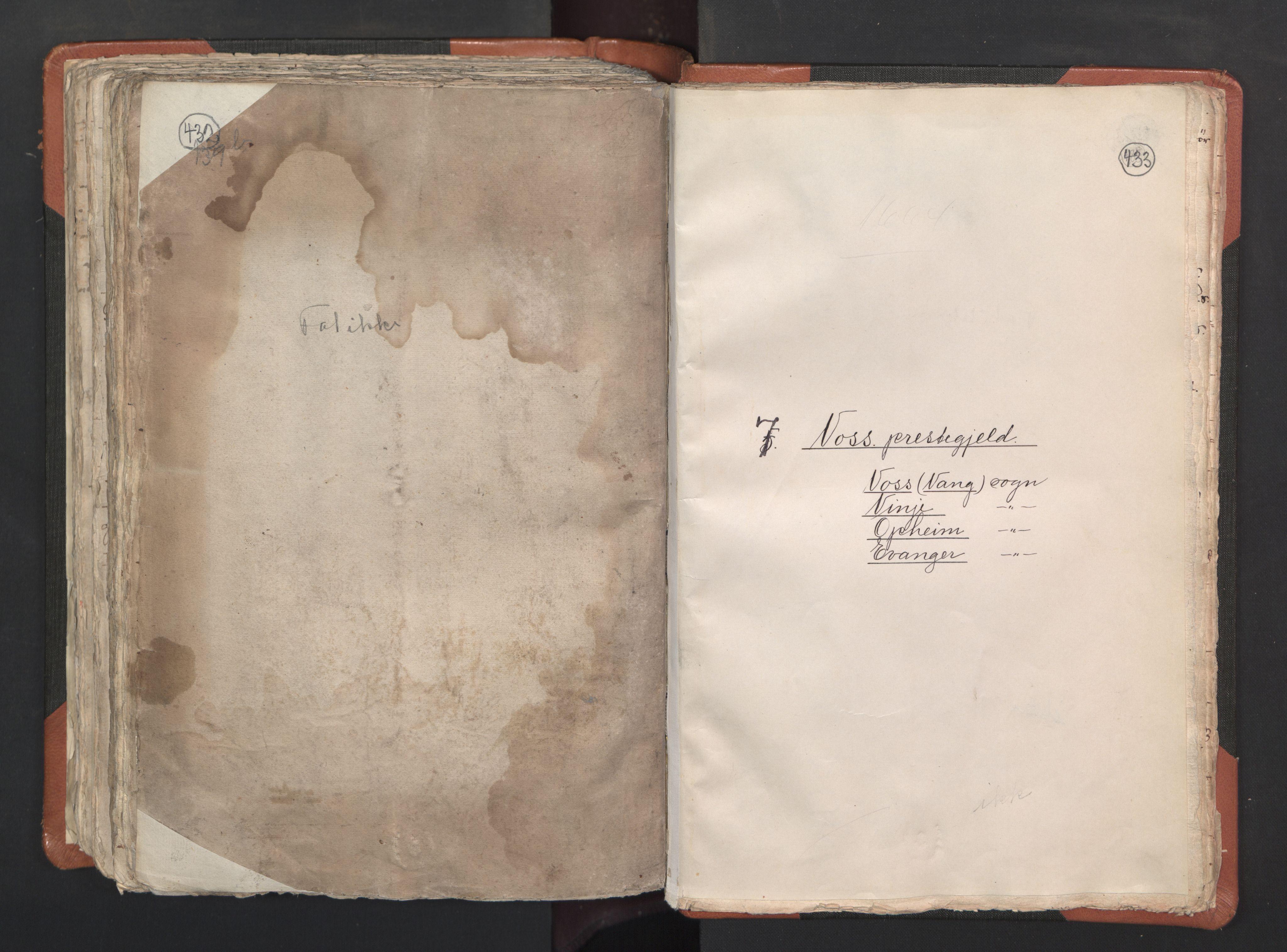 RA, Sogneprestenes manntall 1664-1666, nr. 22: Nordhordland prosti, 1664-1666, s. 432-433