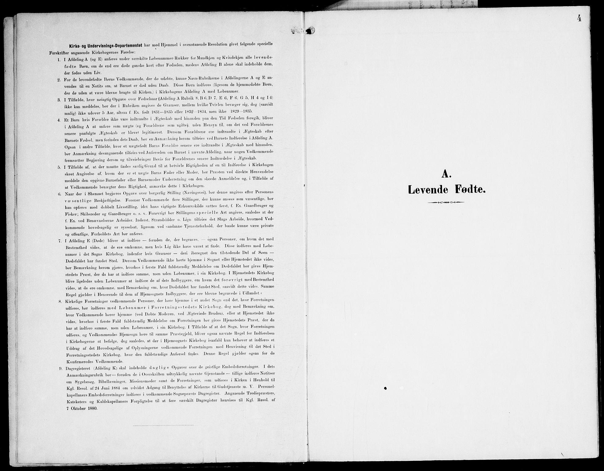 SAT, Ministerialprotokoller, klokkerbøker og fødselsregistre - Nord-Trøndelag, 745/L0430: Ministerialbok nr. 745A02, 1895-1913, s. 4