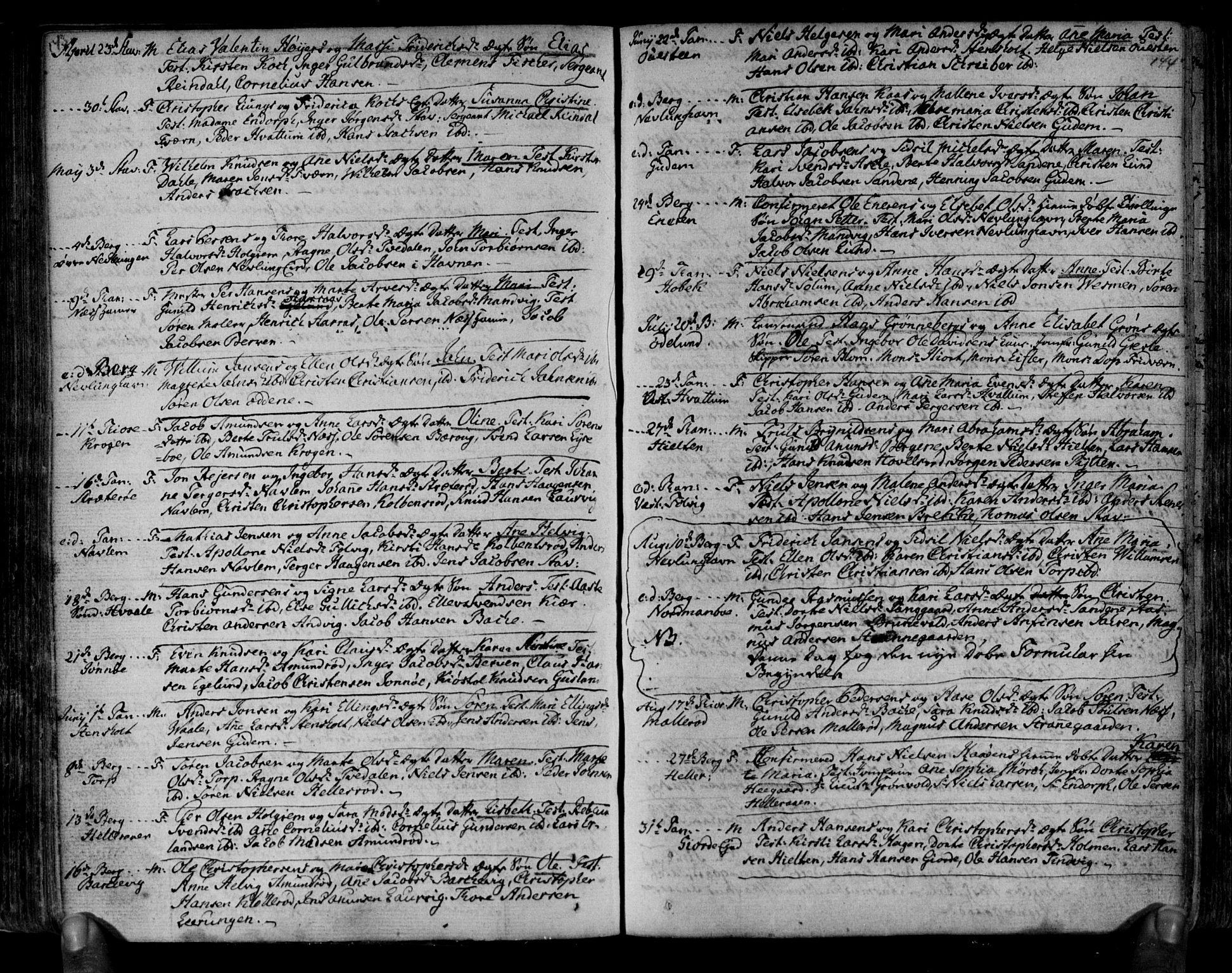 SAKO, Brunlanes kirkebøker, F/Fa/L0001: Ministerialbok nr. I 1, 1766-1801, s. 143-144