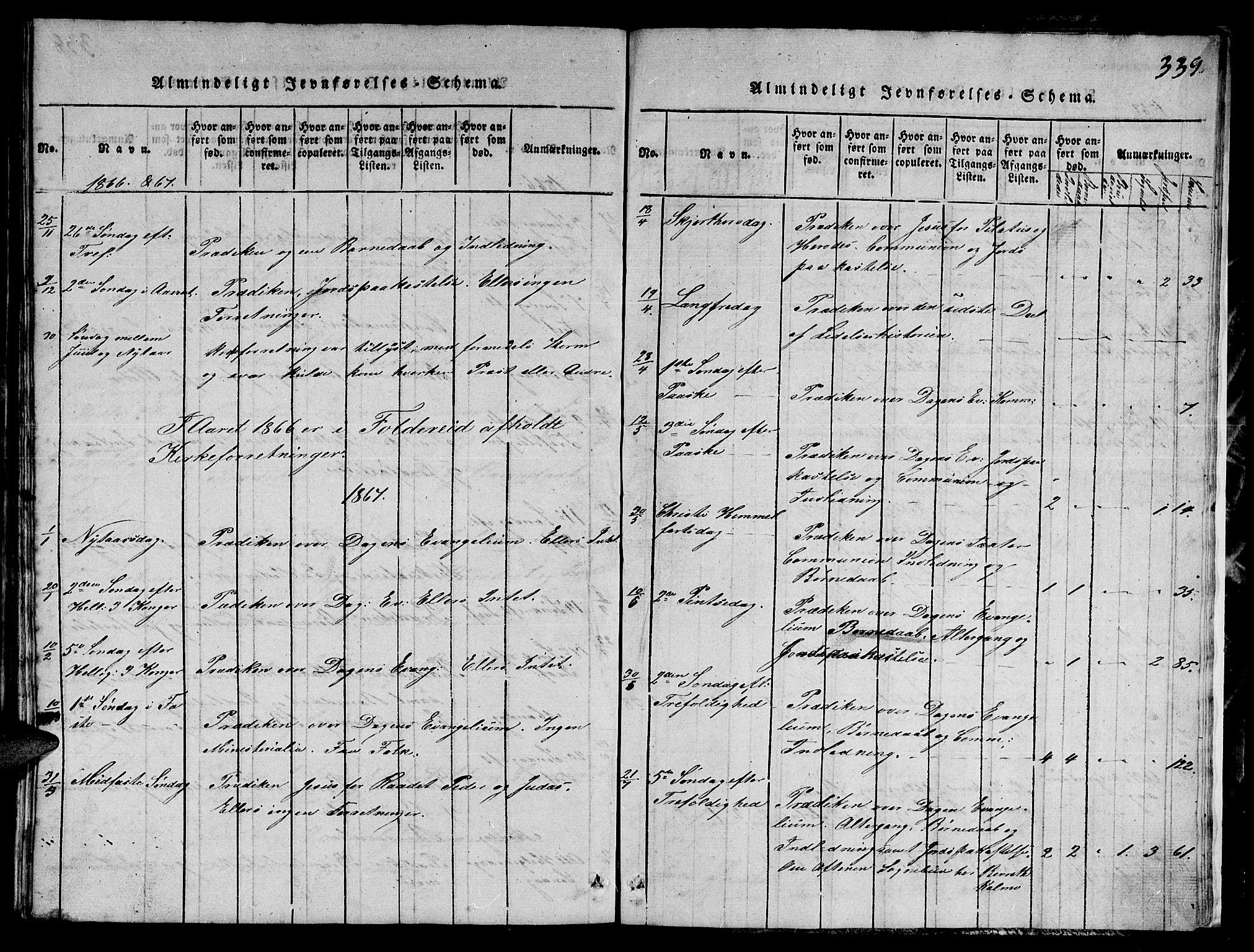 SAT, Ministerialprotokoller, klokkerbøker og fødselsregistre - Nord-Trøndelag, 780/L0648: Klokkerbok nr. 780C01 /1, 1815-1870, s. 339
