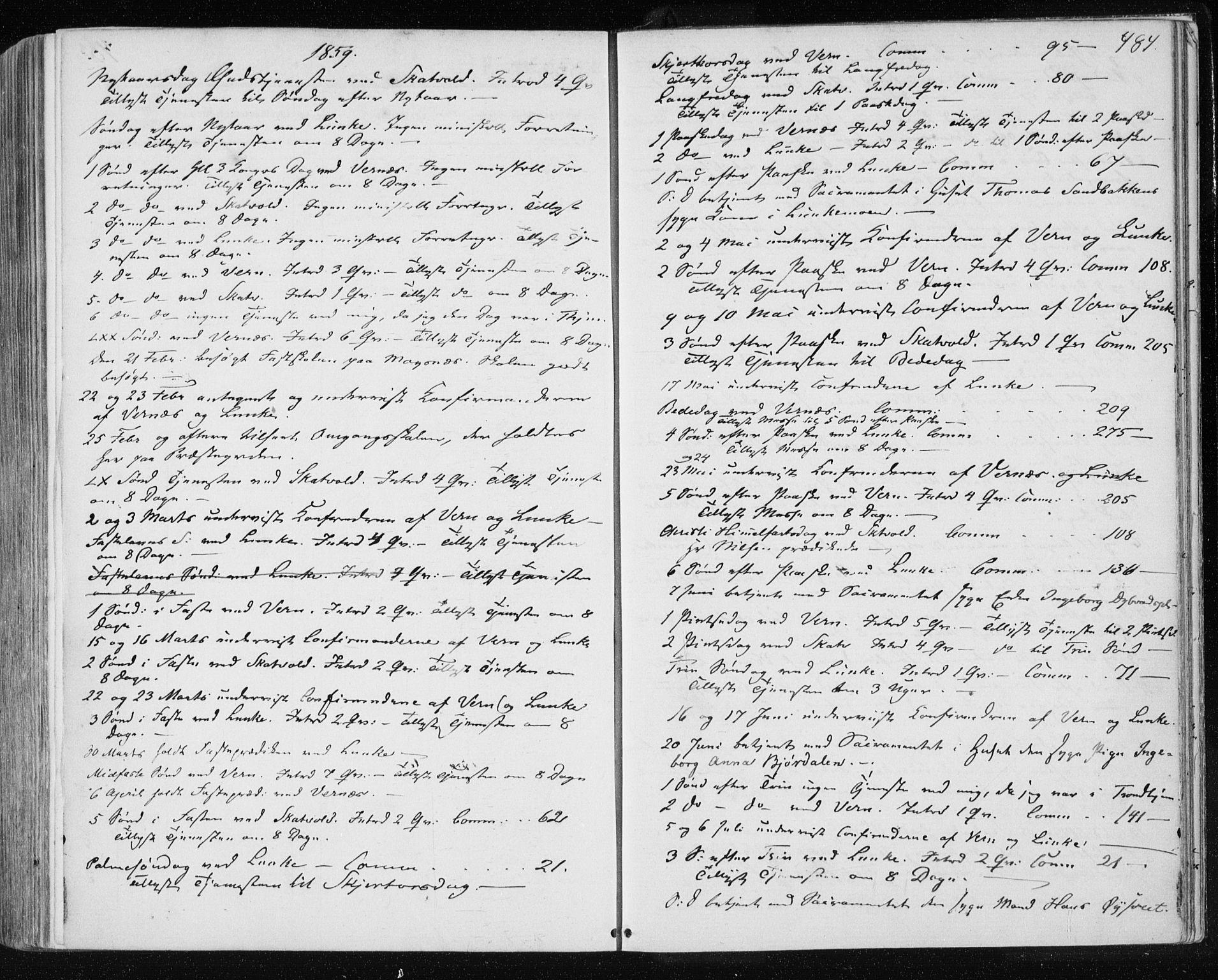 SAT, Ministerialprotokoller, klokkerbøker og fødselsregistre - Nord-Trøndelag, 709/L0075: Ministerialbok nr. 709A15, 1859-1870, s. 484
