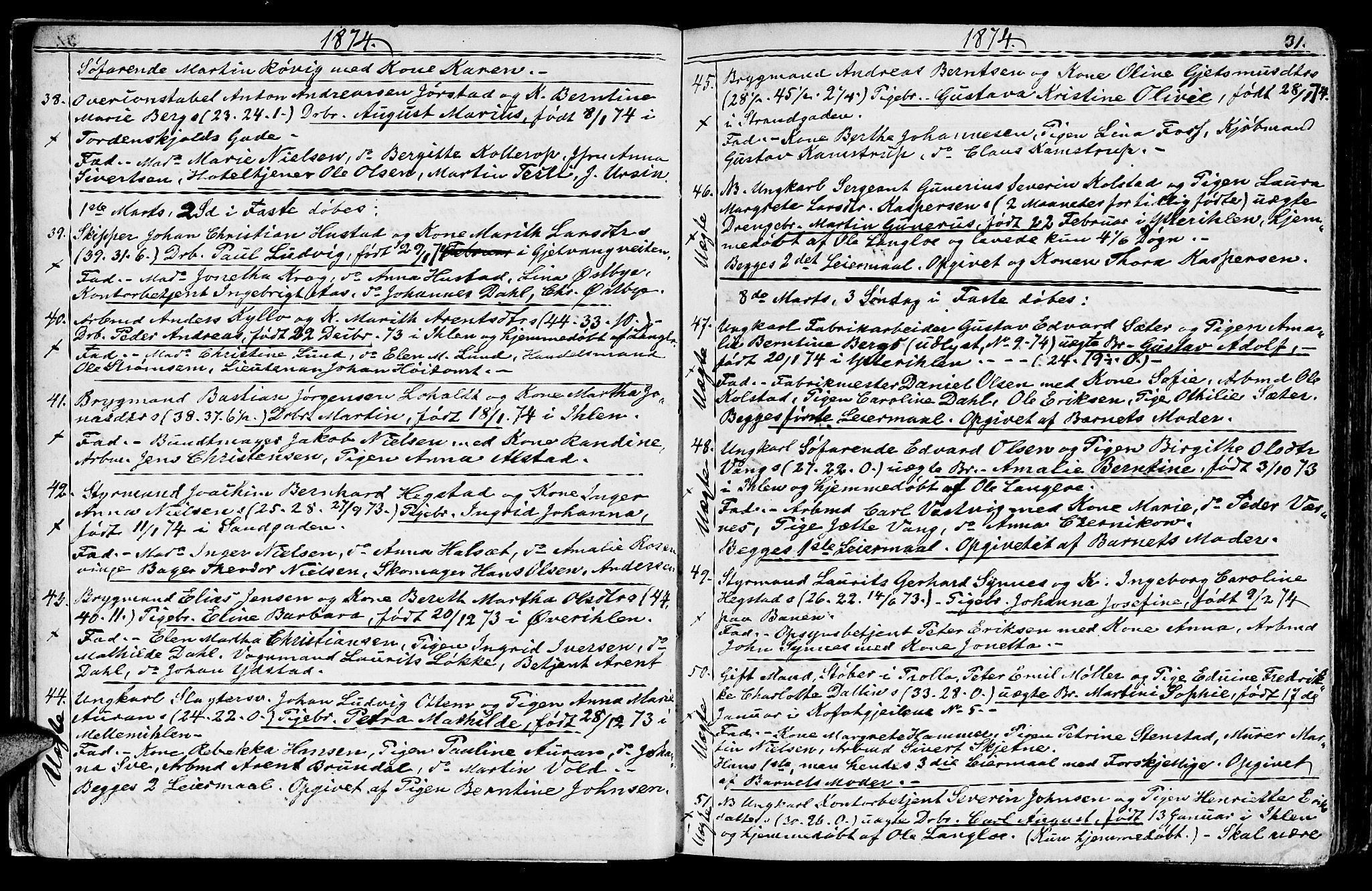SAT, Ministerialprotokoller, klokkerbøker og fødselsregistre - Sør-Trøndelag, 602/L0142: Klokkerbok nr. 602C10, 1872-1894, s. 31