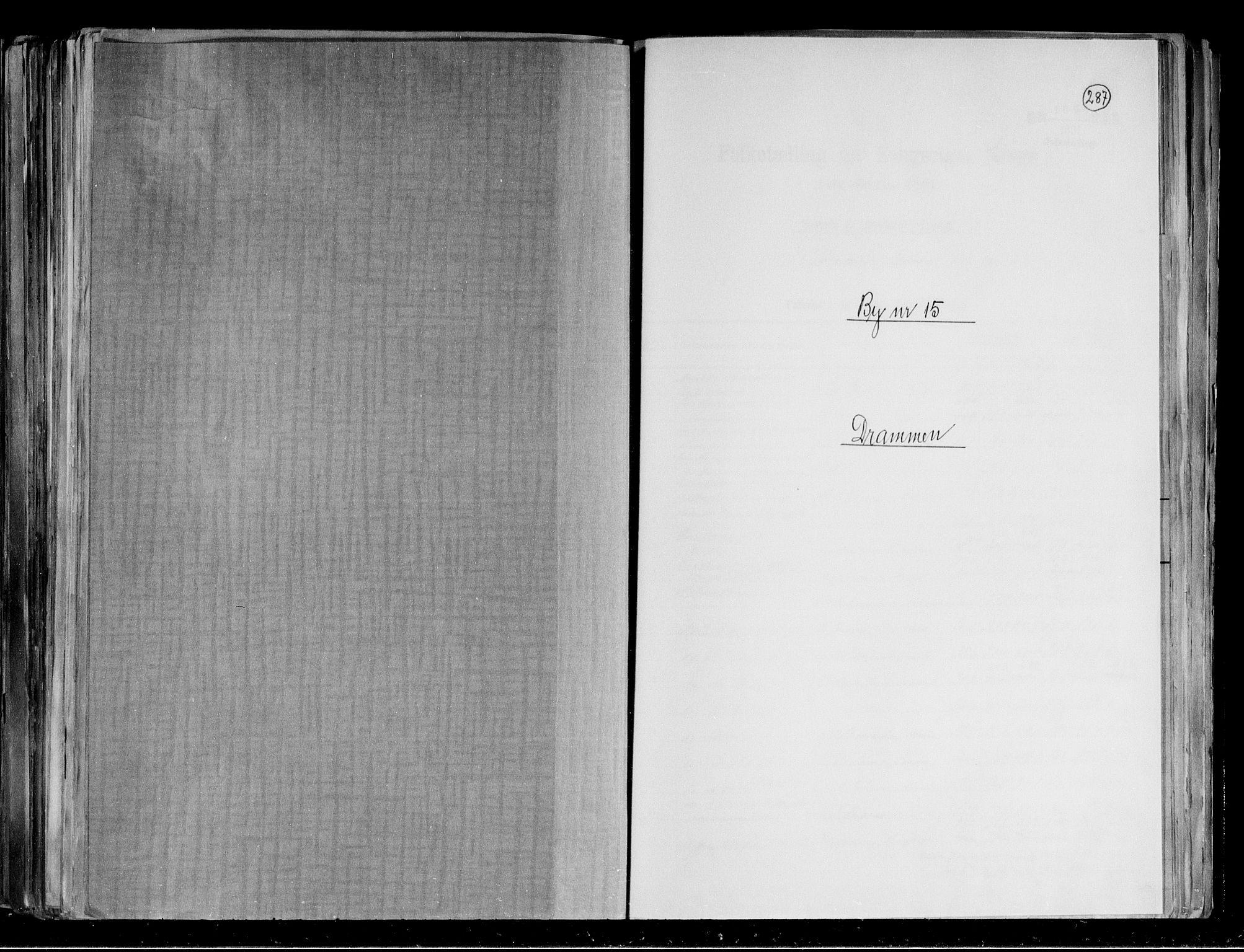 RA, Folketelling 1891 for 0602 Drammen kjøpstad, 1891, s. 1