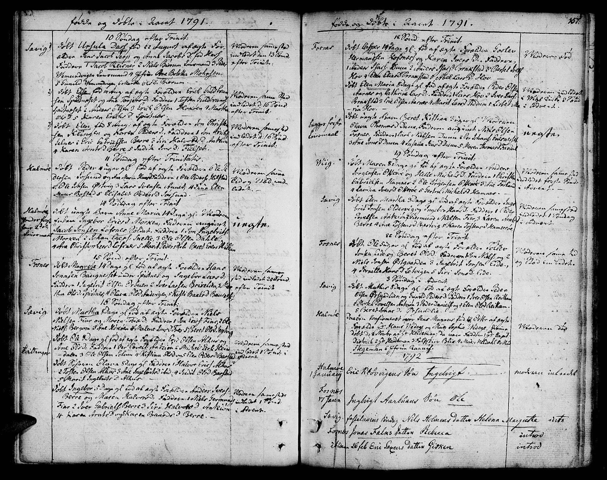 SAT, Ministerialprotokoller, klokkerbøker og fødselsregistre - Nord-Trøndelag, 773/L0608: Ministerialbok nr. 773A02, 1784-1816, s. 157