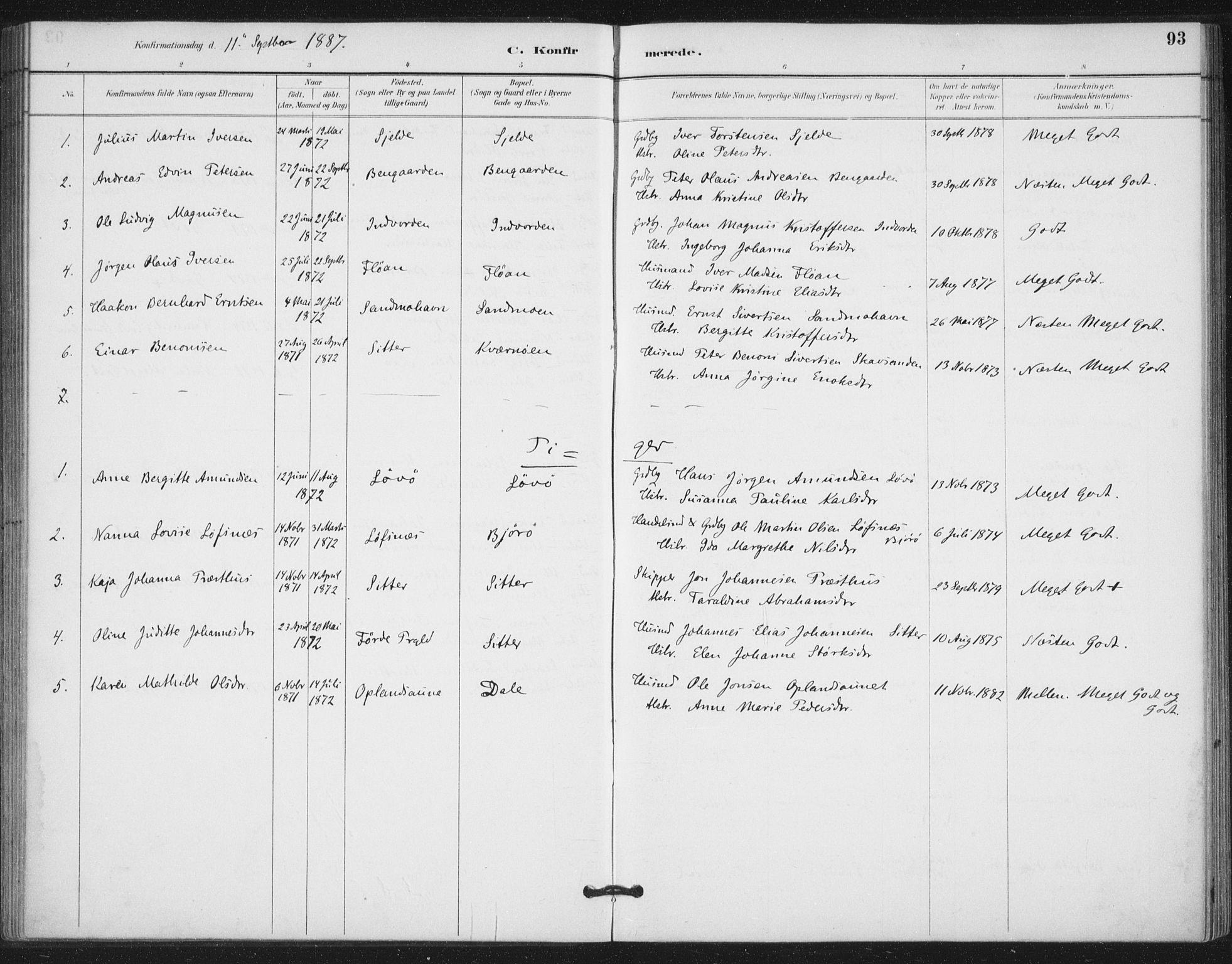 SAT, Ministerialprotokoller, klokkerbøker og fødselsregistre - Nord-Trøndelag, 772/L0603: Ministerialbok nr. 772A01, 1885-1912, s. 93
