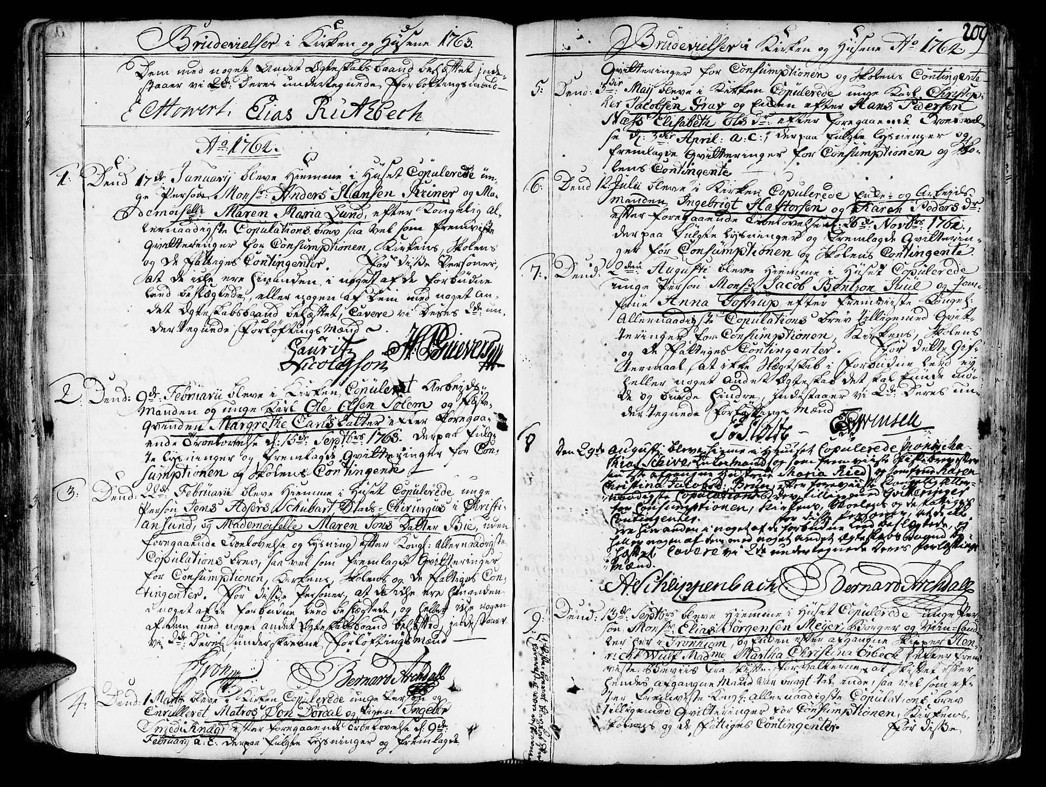 SAT, Ministerialprotokoller, klokkerbøker og fødselsregistre - Sør-Trøndelag, 602/L0103: Ministerialbok nr. 602A01, 1732-1774, s. 209