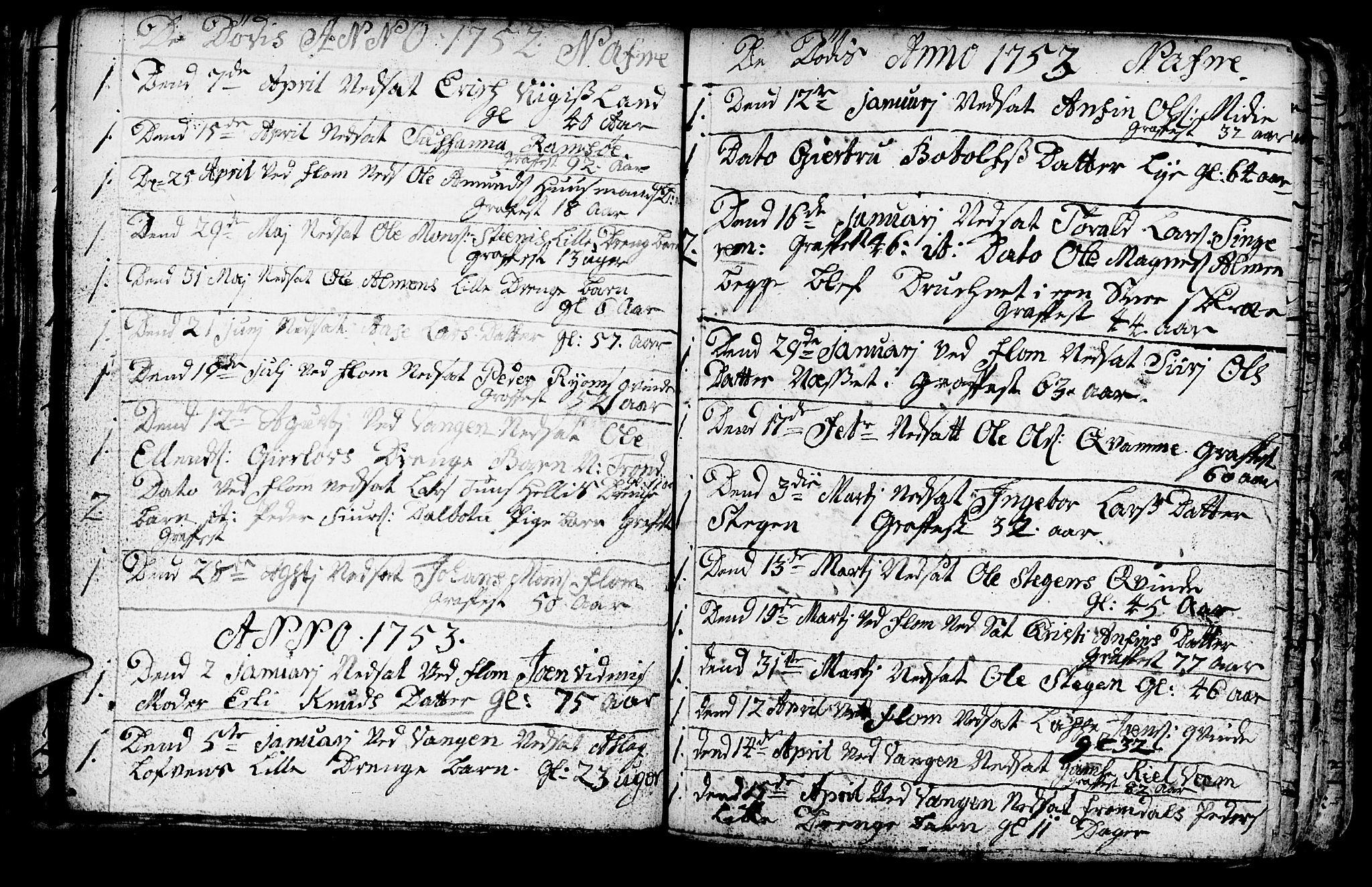 SAB, Aurland Sokneprestembete*, Ministerialbok nr. A 3, 1735-1761, s. 126