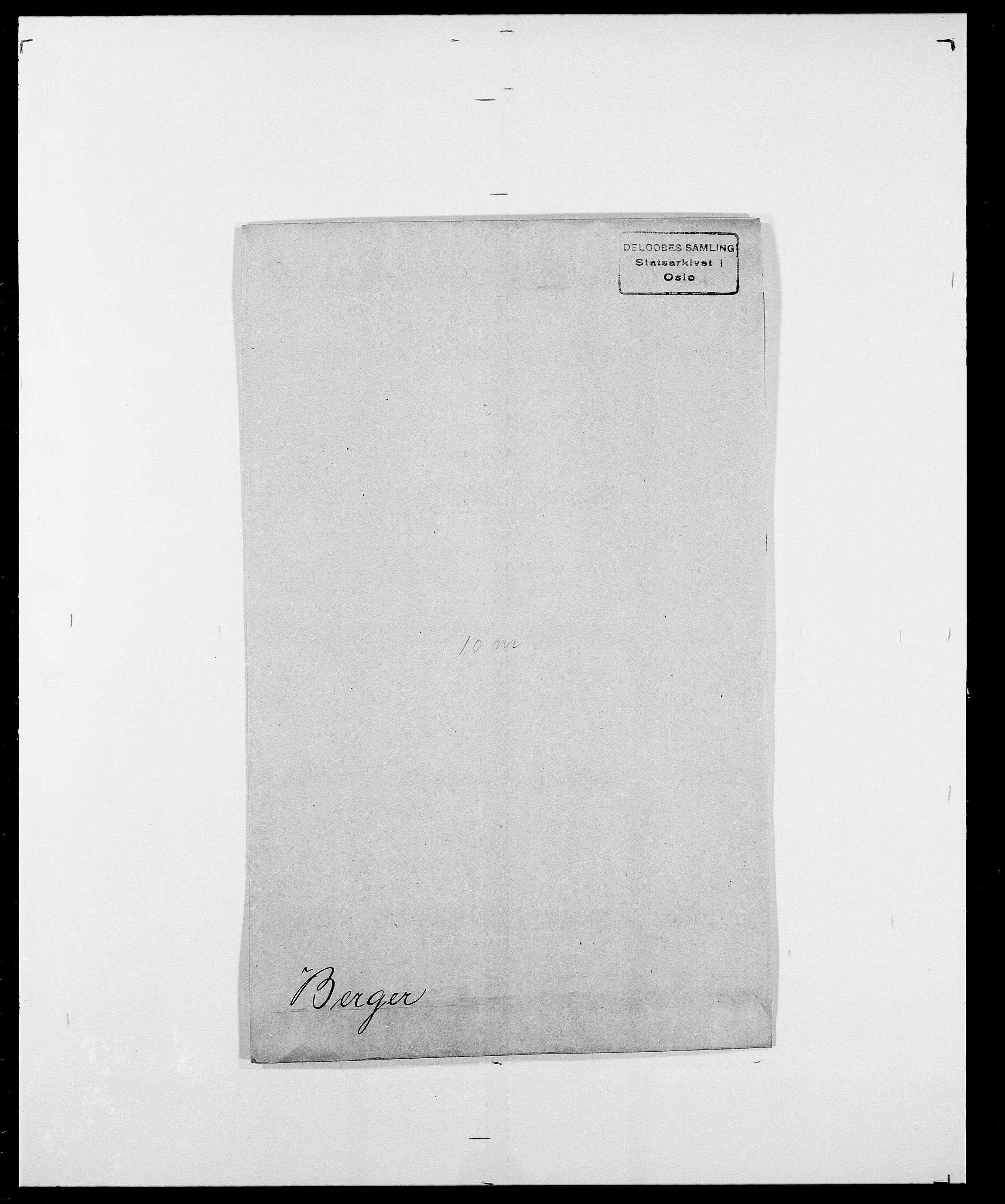 SAO, Delgobe, Charles Antoine - samling, D/Da/L0004: Bergendahl - Blære, s. 9