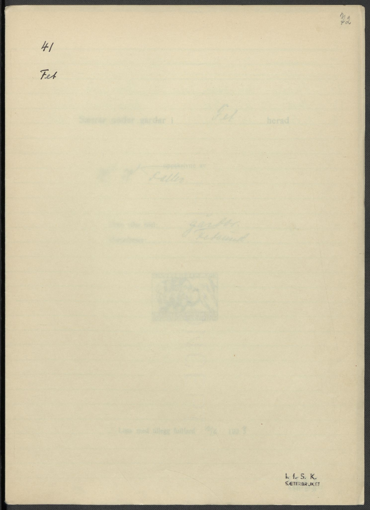 RA, Instituttet for sammenlignende kulturforskning, F/Fc/L0002: Eske B2:, 1932-1936, s. 72