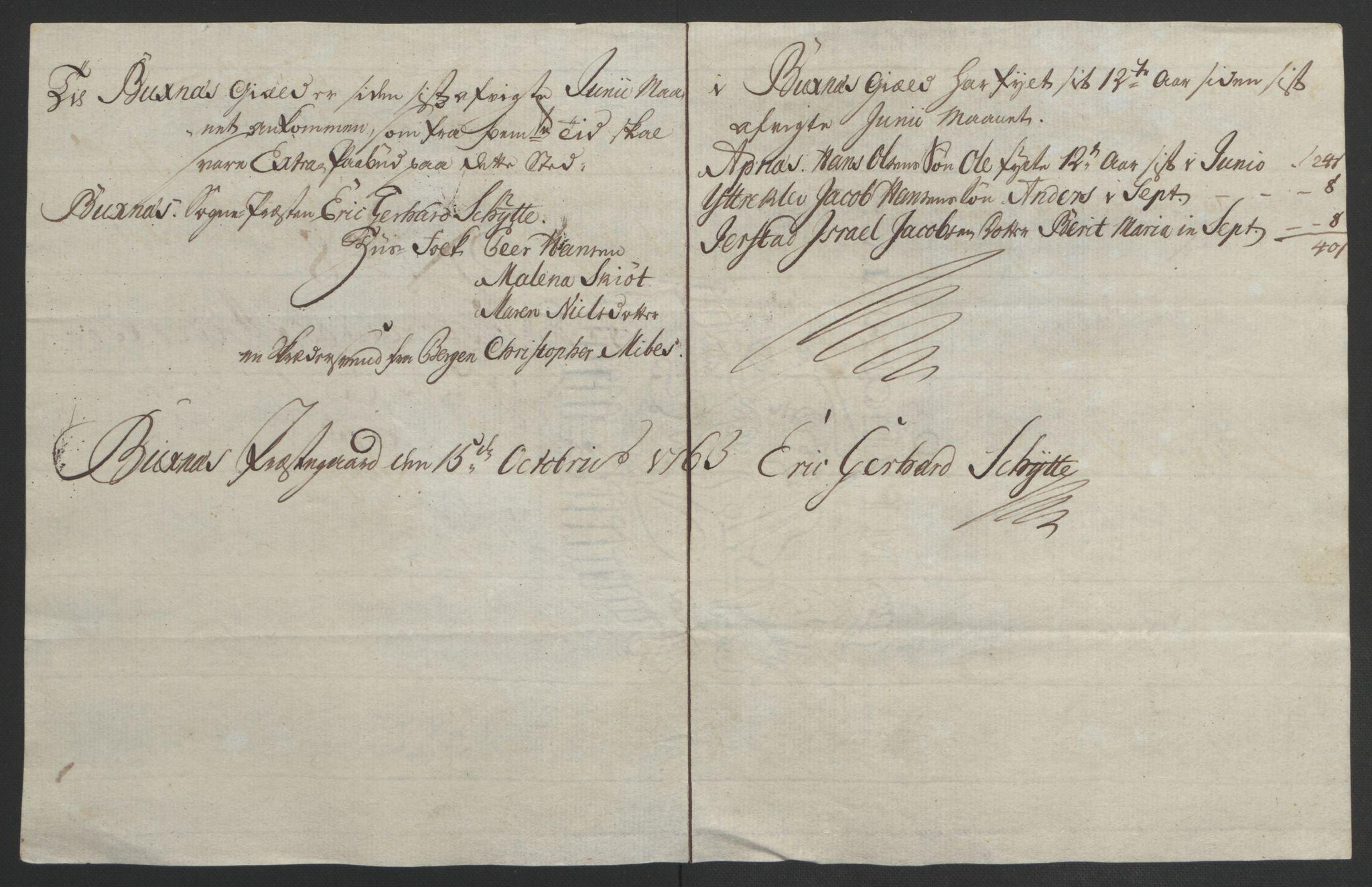 RA, Rentekammeret inntil 1814, Reviderte regnskaper, Fogderegnskap, R67/L4747: Ekstraskatten Vesterålen, Andenes og Lofoten, 1762-1766, s. 150