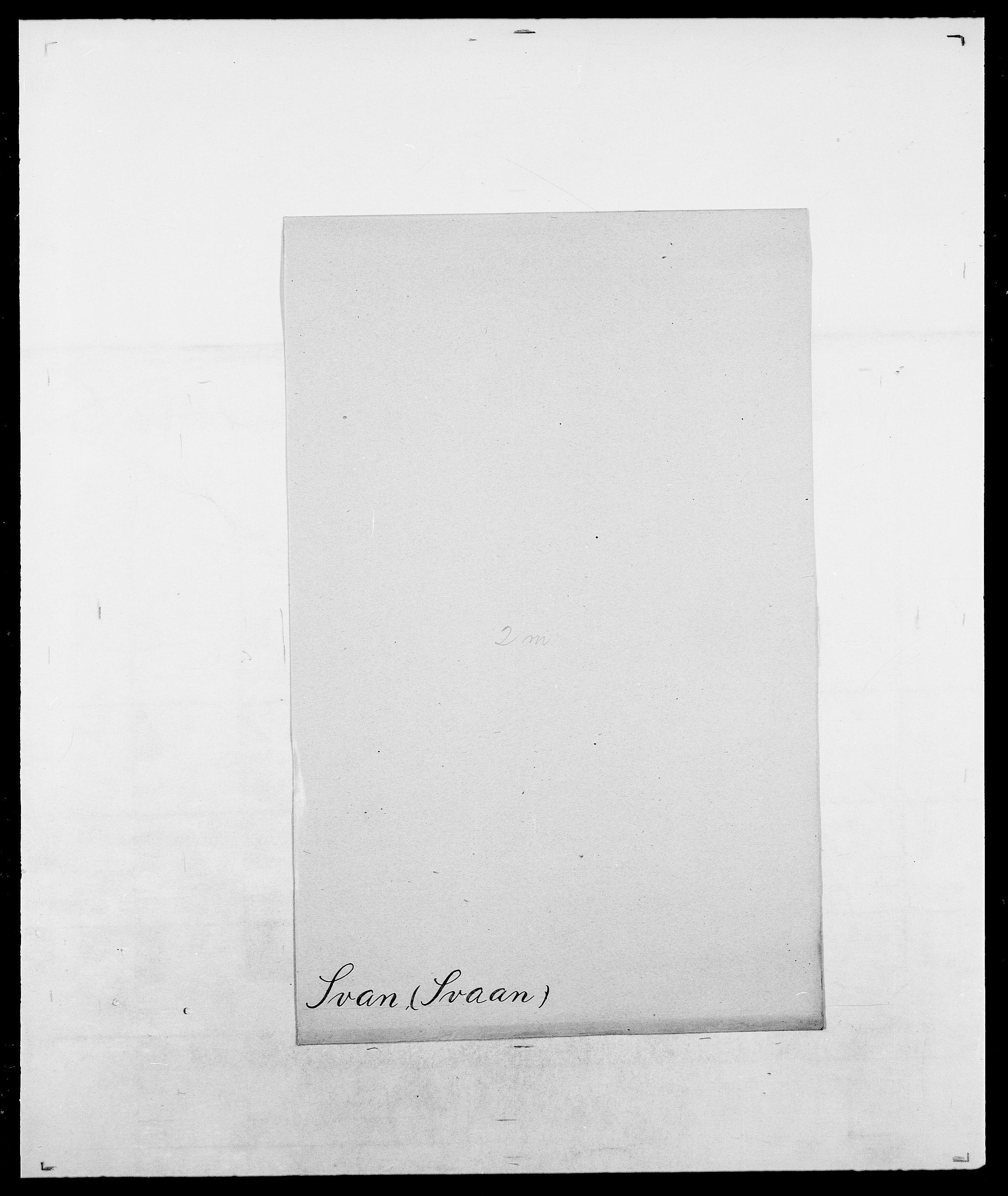 SAO, Delgobe, Charles Antoine - samling, D/Da/L0037: Steen, Sthen, Stein - Svare, Svanige, Svanne, se også Svanning og Schwane, s. 974