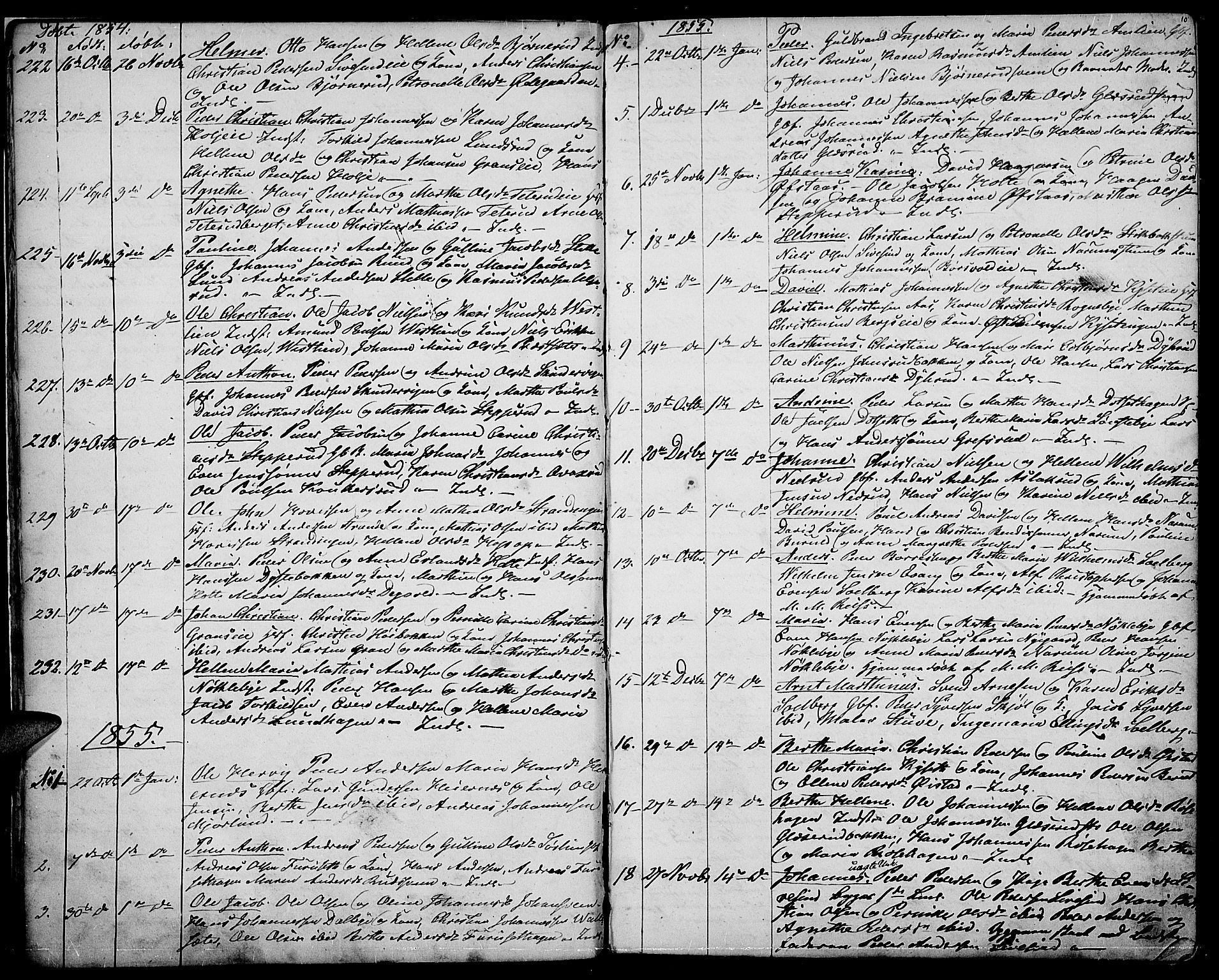 SAH, Vestre Toten prestekontor, Klokkerbok nr. 5, 1854-1870, s. 10
