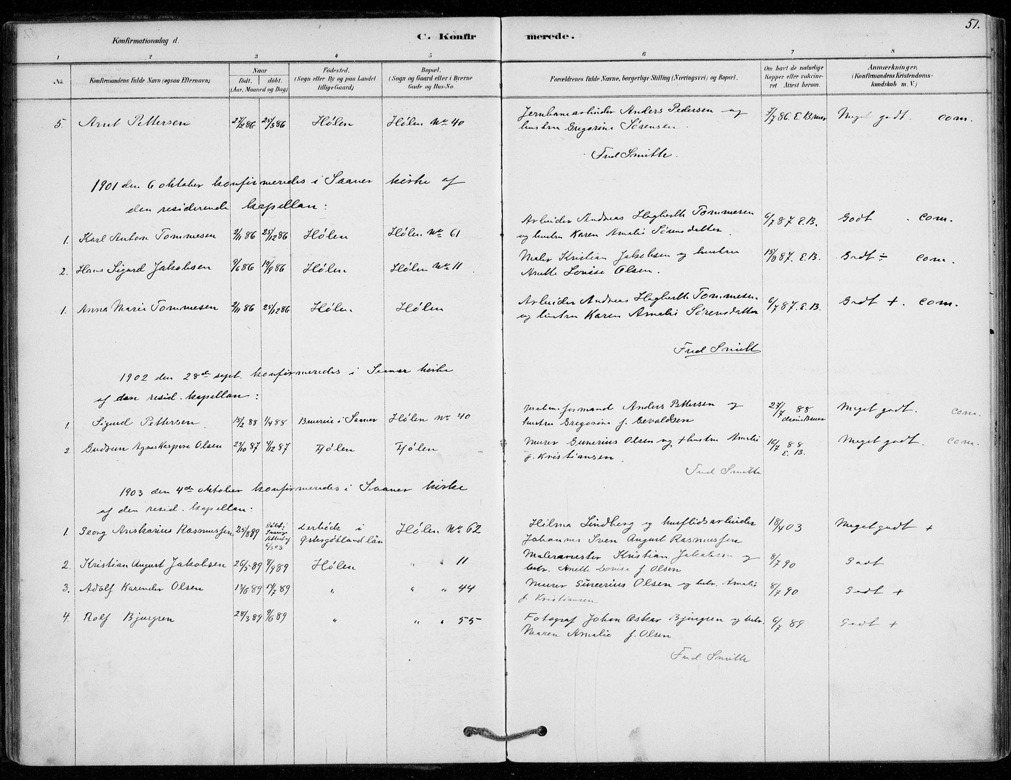 SAO, Vestby prestekontor Kirkebøker, F/Fe/L0001: Ministerialbok nr. V 1, 1878-1931, s. 51