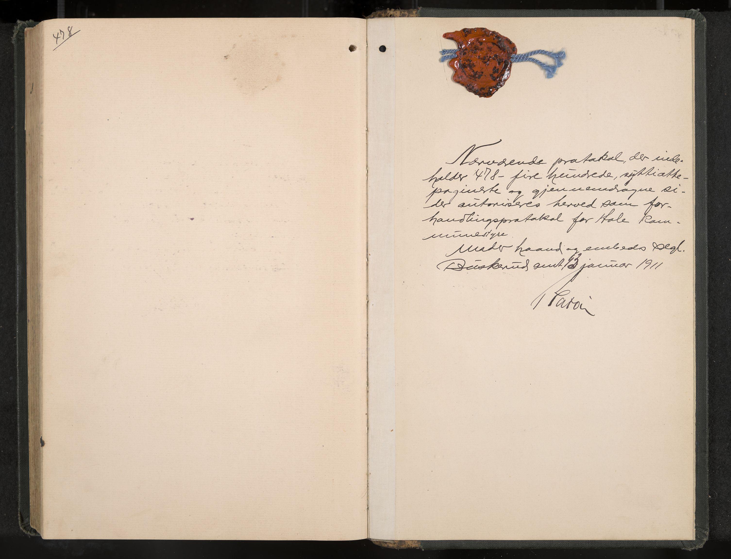 IKAK, Hole formannskap og sentraladministrasjon, A/Aa/L0006: Møtebok, 1911-1916, s. 478