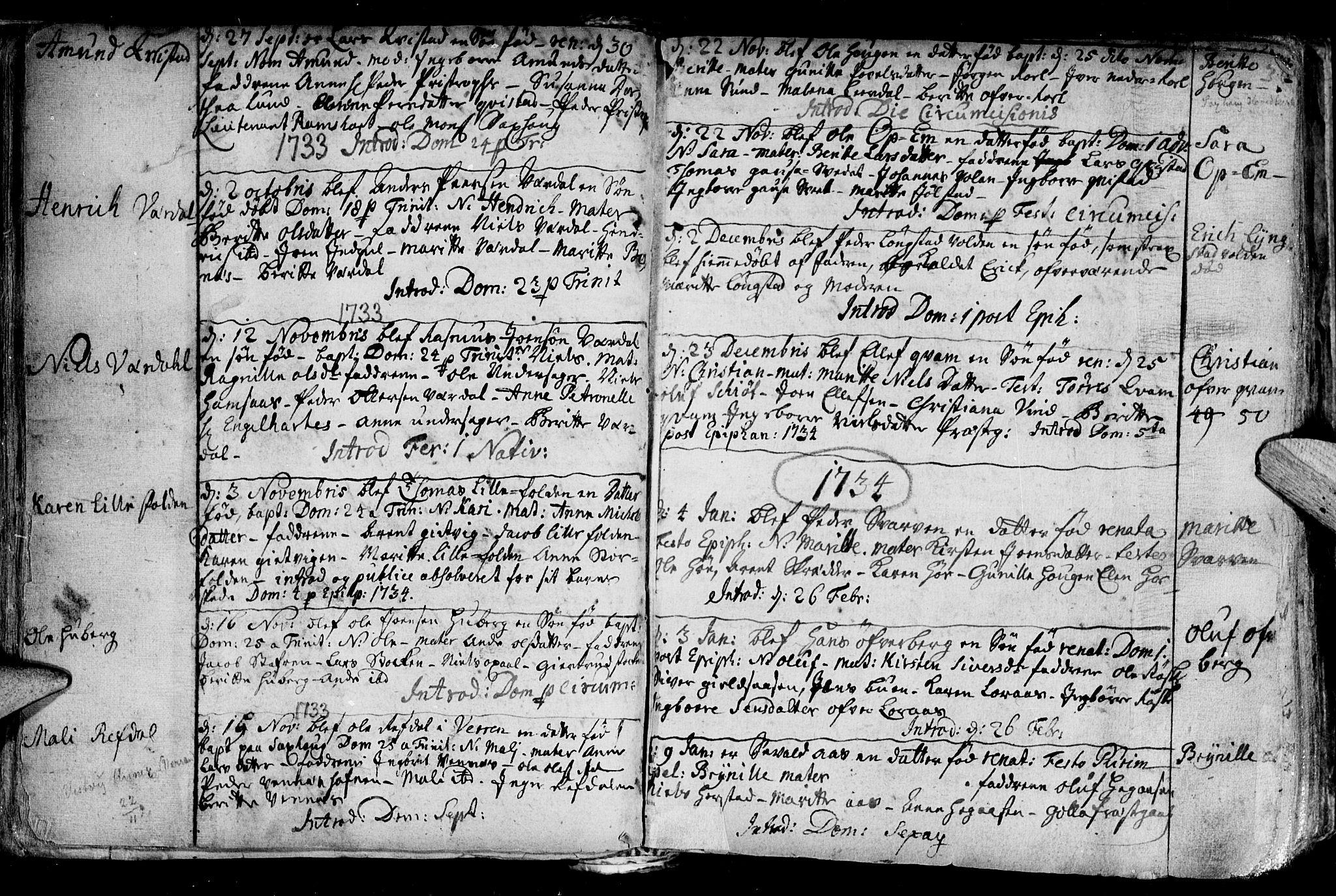 SAT, Ministerialprotokoller, klokkerbøker og fødselsregistre - Nord-Trøndelag, 730/L0272: Ministerialbok nr. 730A01, 1733-1764, s. 36