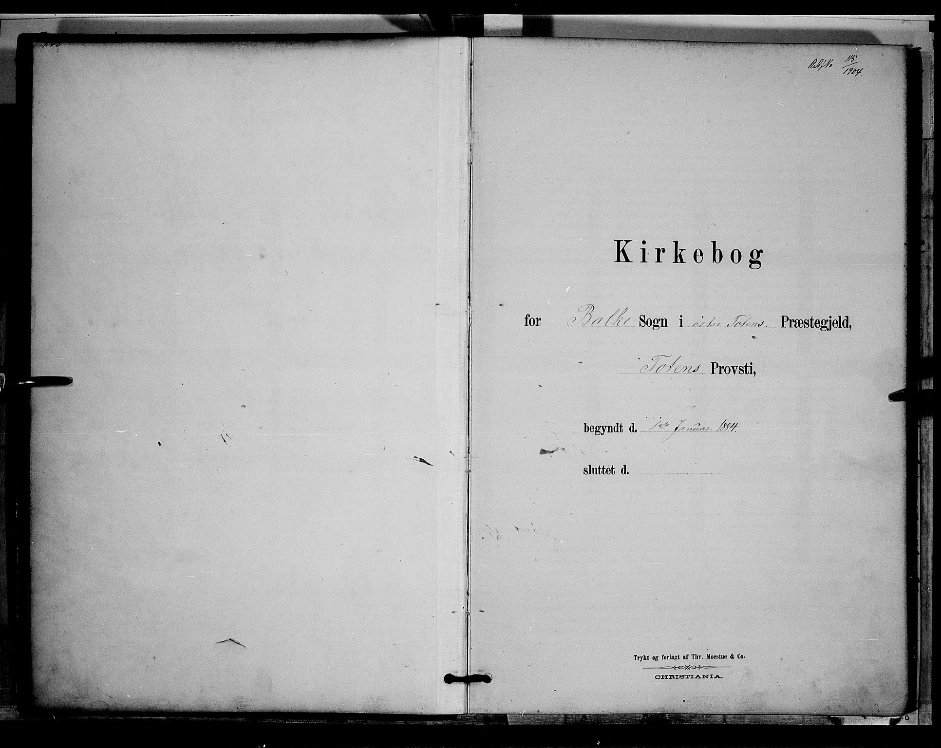 SAH, Østre Toten prestekontor, Klokkerbok nr. 5, 1884-1893