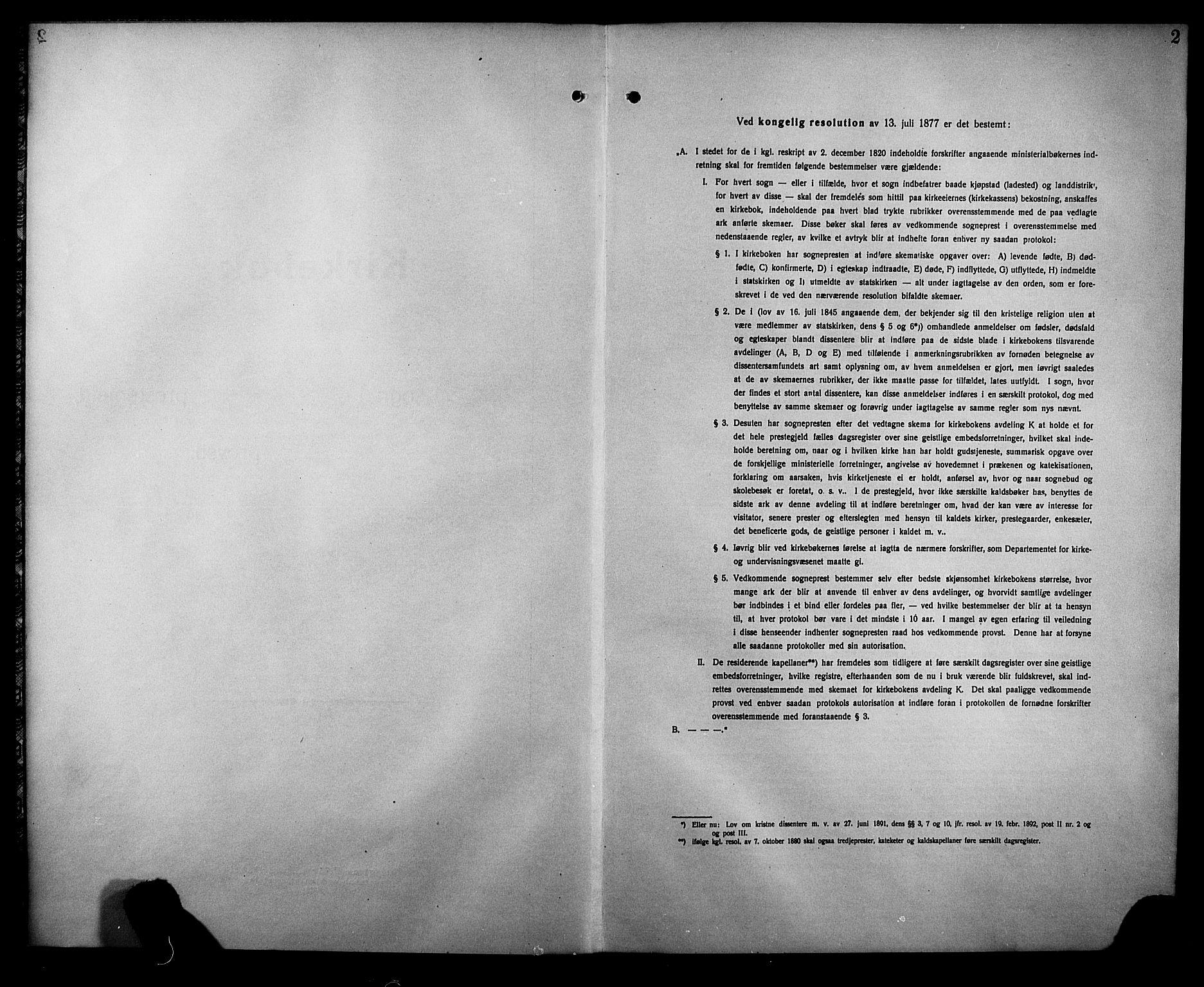 SAKO, Rjukan kirkebøker, G/Ga/L0004: Klokkerbok nr. 4, 1923-1932, s. 2