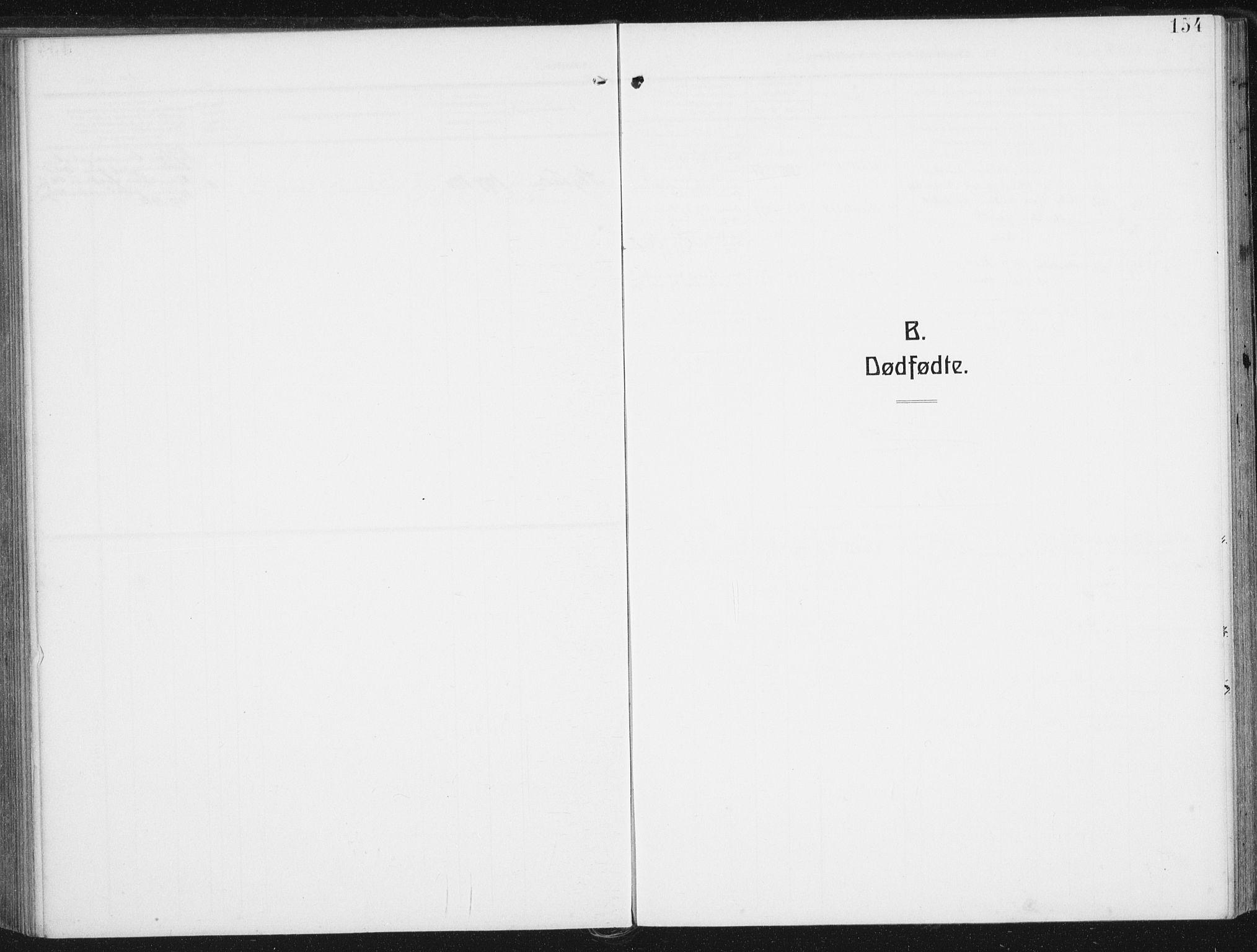 SAT, Ministerialprotokoller, klokkerbøker og fødselsregistre - Nordland, 880/L1135: Ministerialbok nr. 880A09, 1908-1919, s. 154