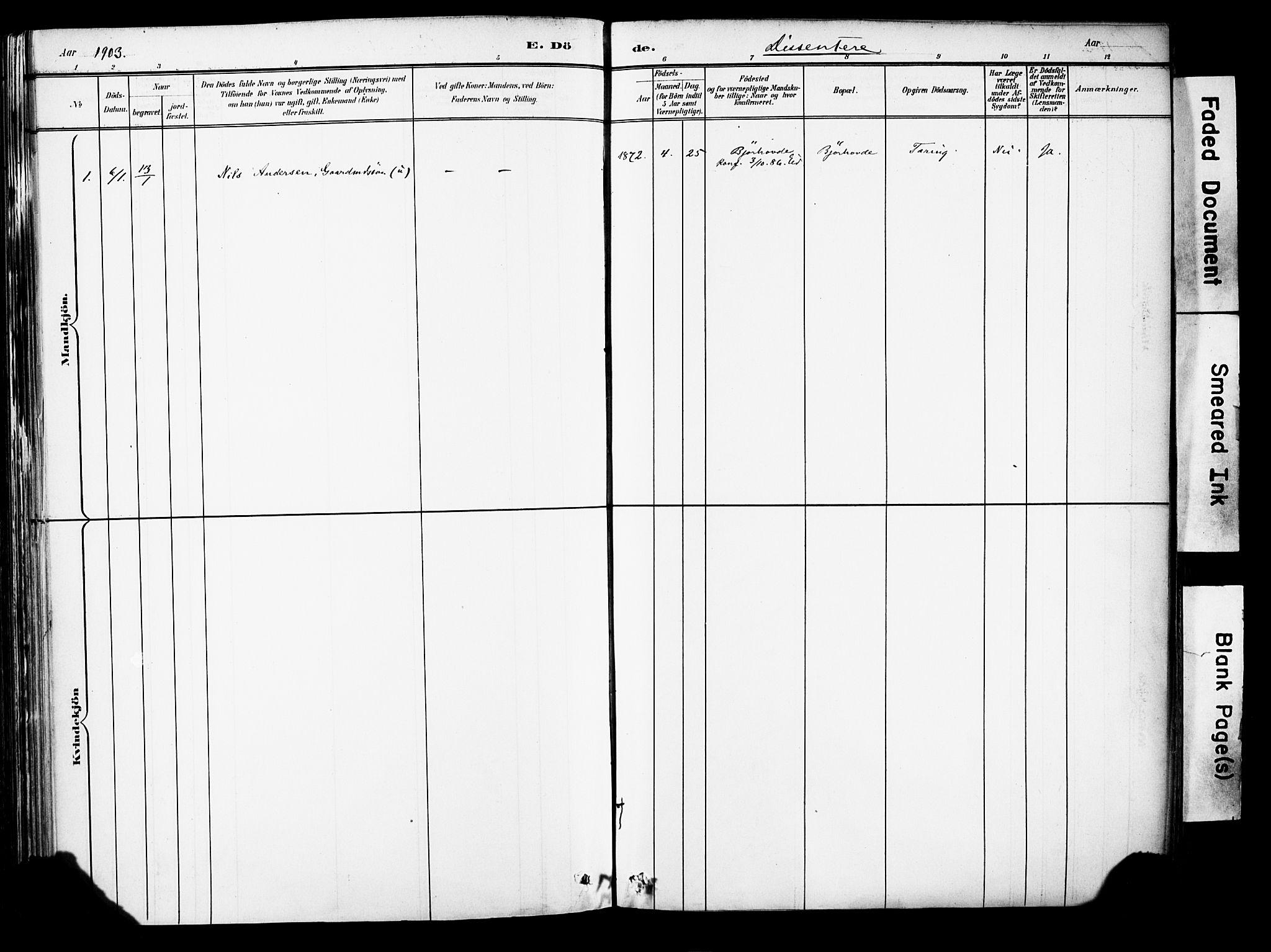SAB, Eid Sokneprestembete, H/Haa: Ministerialbok nr. B 1, 1879-1906