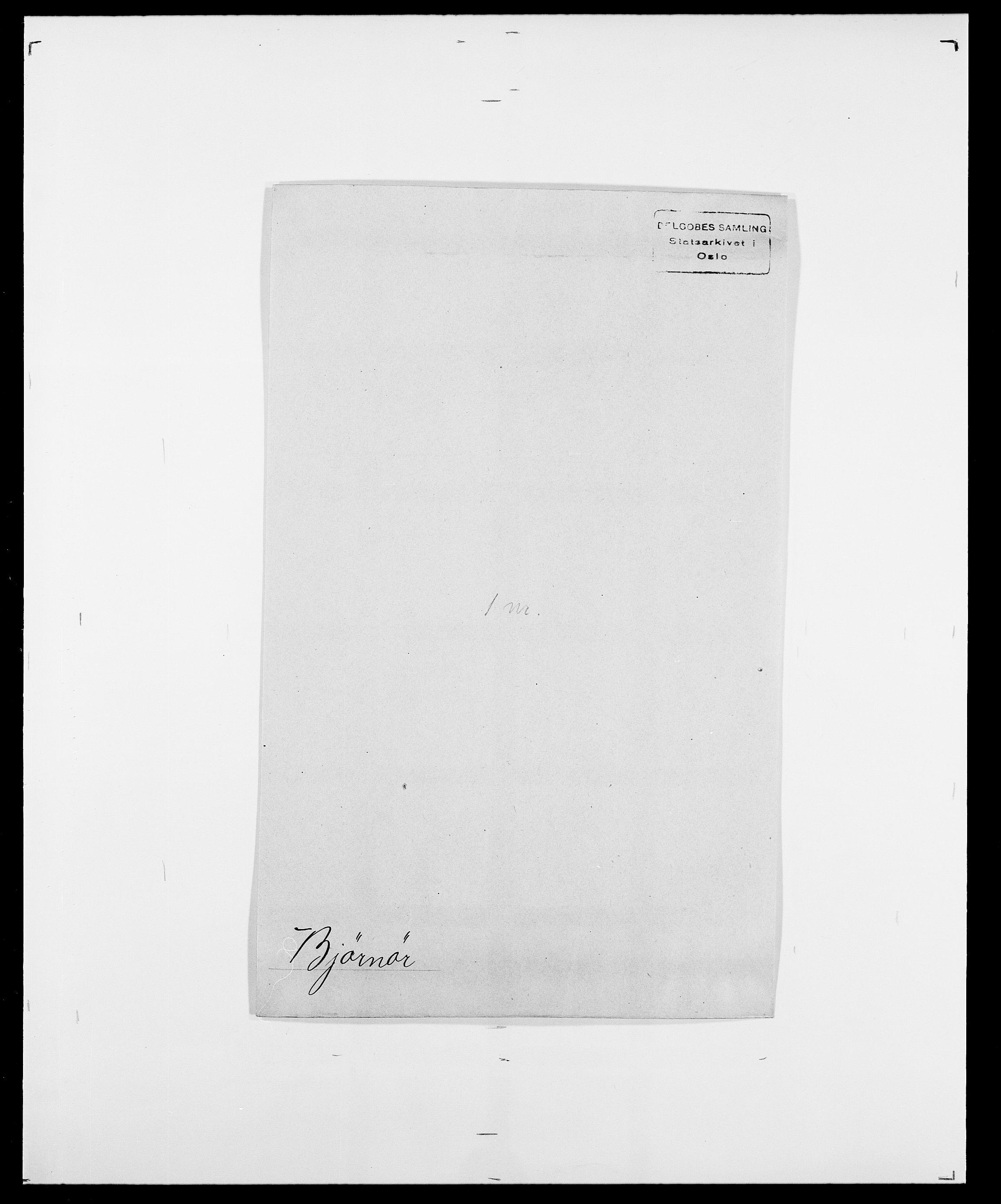 SAO, Delgobe, Charles Antoine - samling, D/Da/L0004: Bergendahl - Blære, s. 506