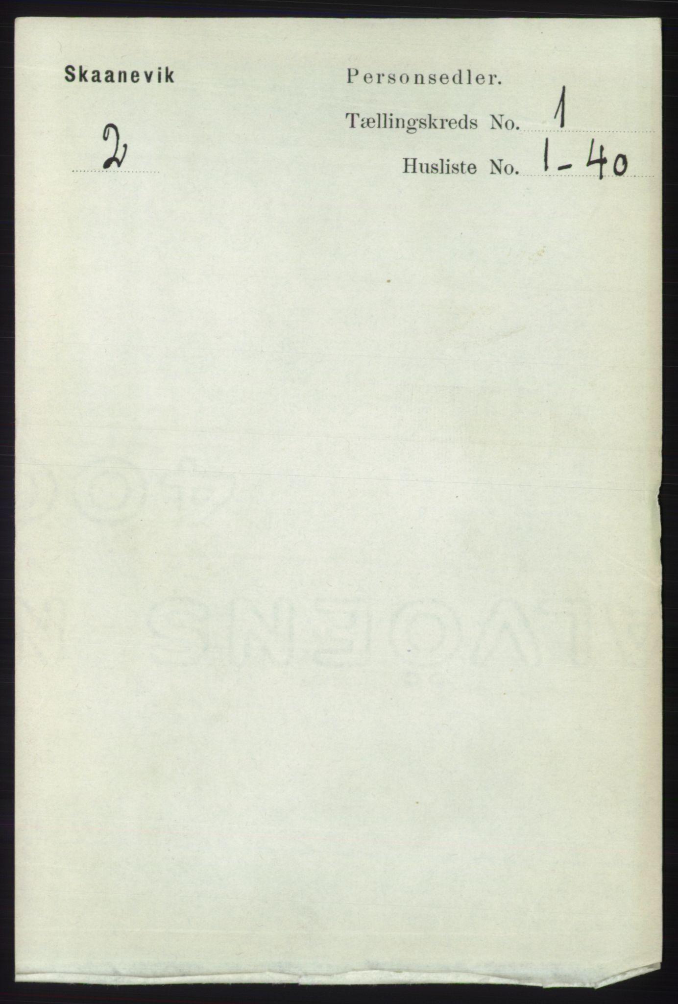 RA, Folketelling 1891 for 1212 Skånevik herred, 1891, s. 72