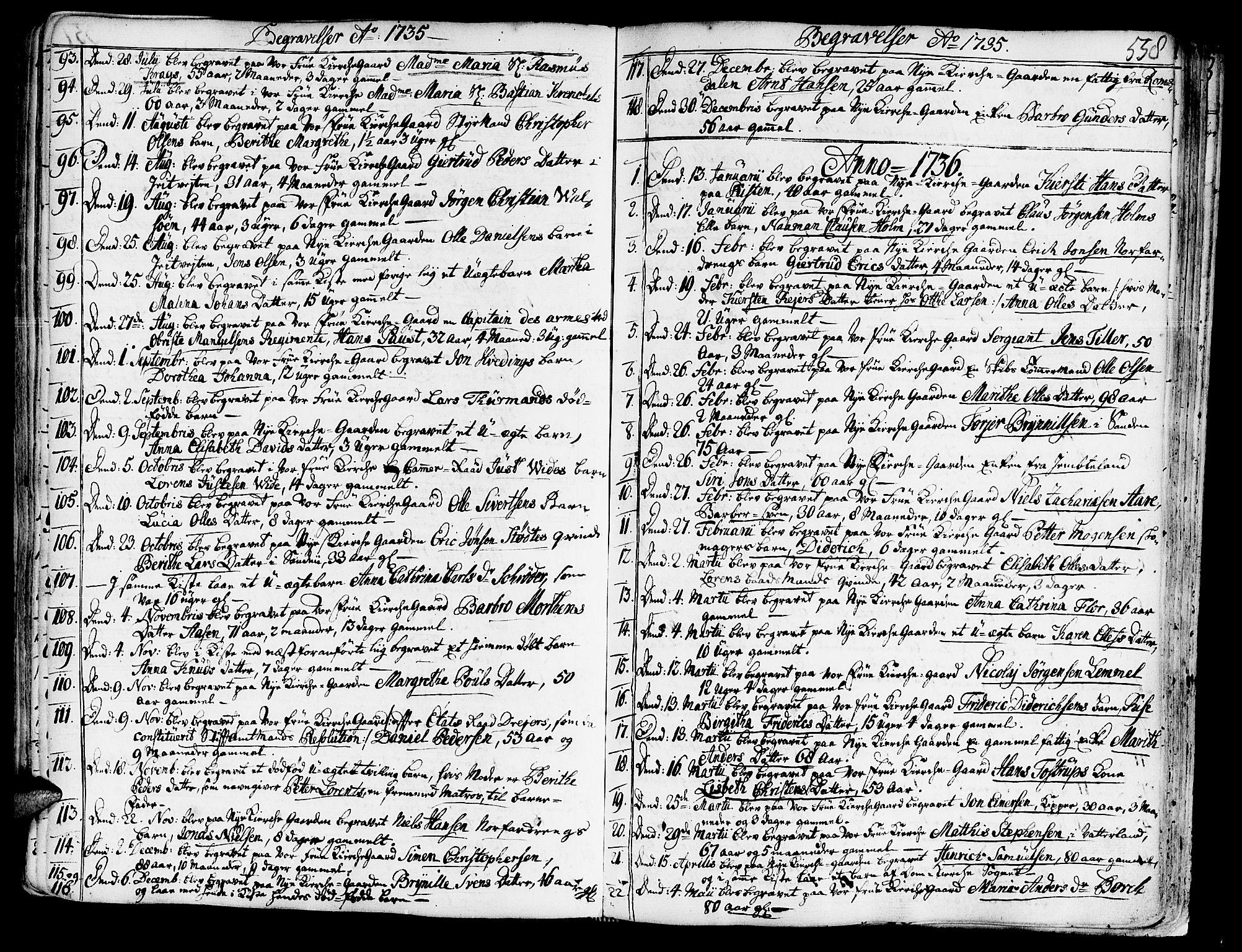 SAT, Ministerialprotokoller, klokkerbøker og fødselsregistre - Sør-Trøndelag, 602/L0103: Ministerialbok nr. 602A01, 1732-1774, s. 558