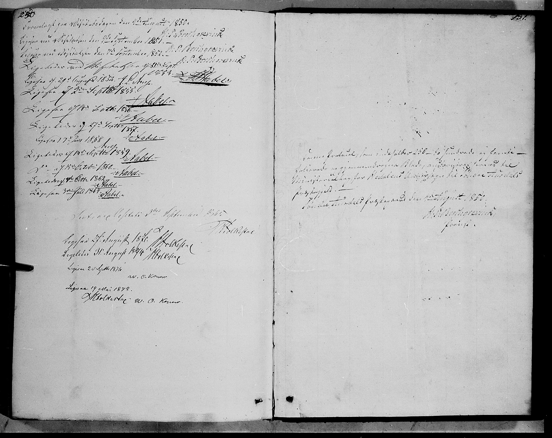 SAH, Sør-Aurdal prestekontor, Ministerialbok nr. 7, 1849-1876, s. 250