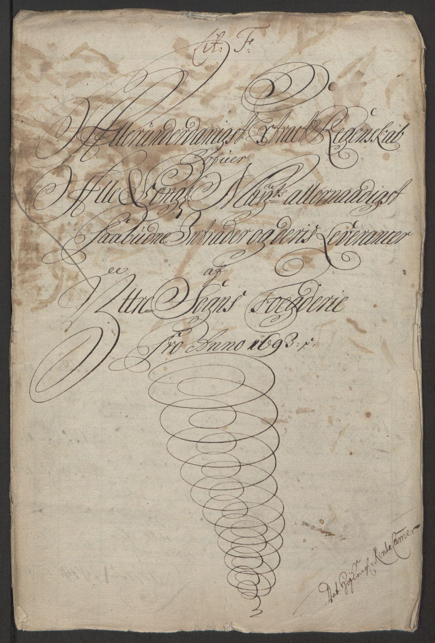 RA, Rentekammeret inntil 1814, Reviderte regnskaper, Fogderegnskap, R52/L3307: Fogderegnskap Sogn, 1693-1694, s. 152