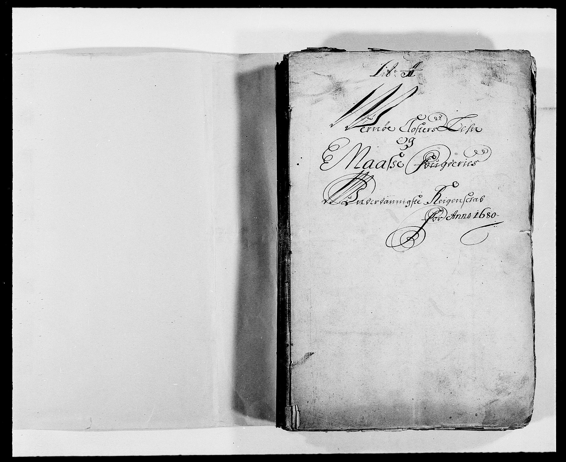 RA, Rentekammeret inntil 1814, Reviderte regnskaper, Fogderegnskap, R02/L0101: Fogderegnskap Moss og Verne kloster, 1680, s. 2