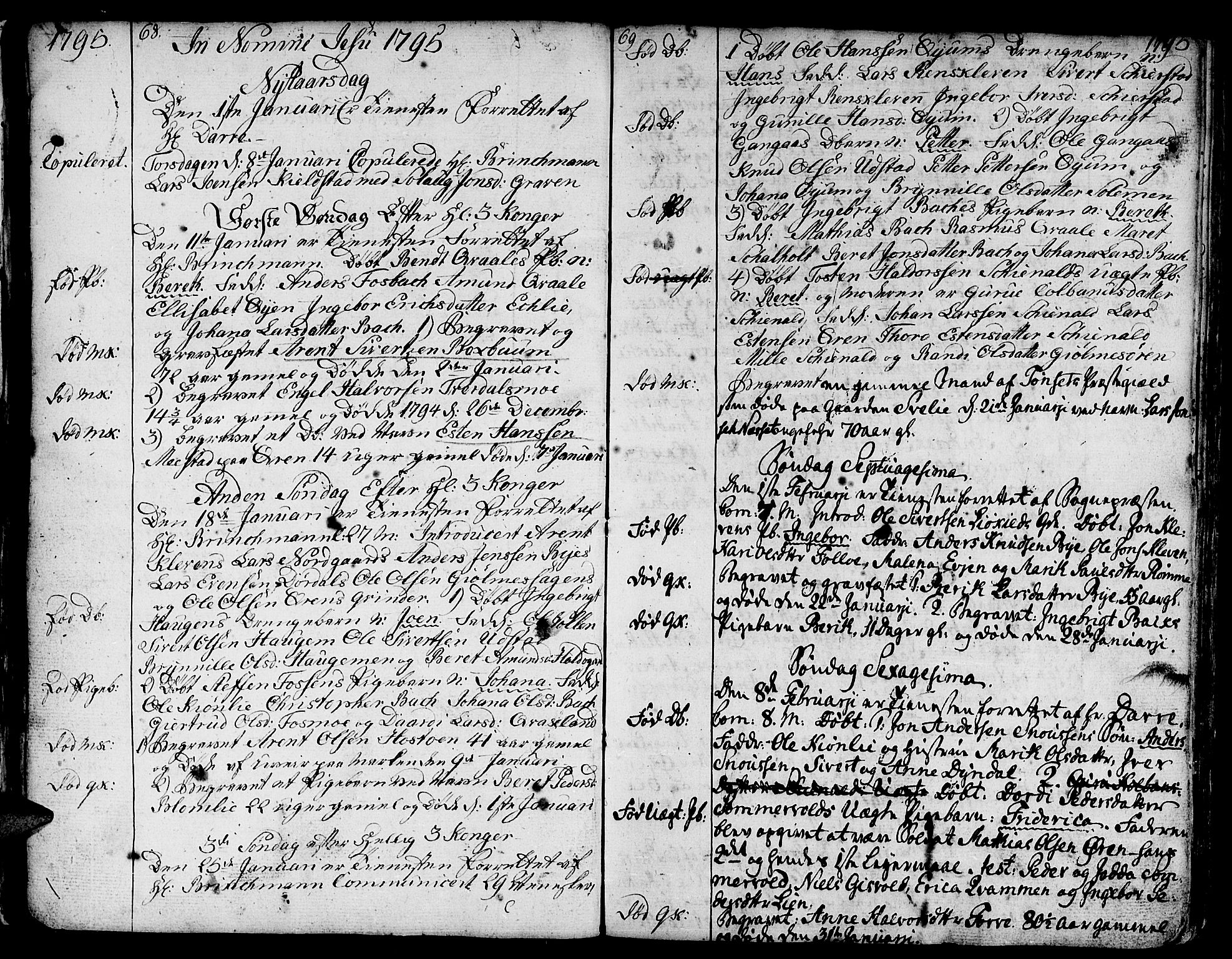 SAT, Ministerialprotokoller, klokkerbøker og fødselsregistre - Sør-Trøndelag, 668/L0815: Klokkerbok nr. 668C04, 1791-1815, s. 68-69