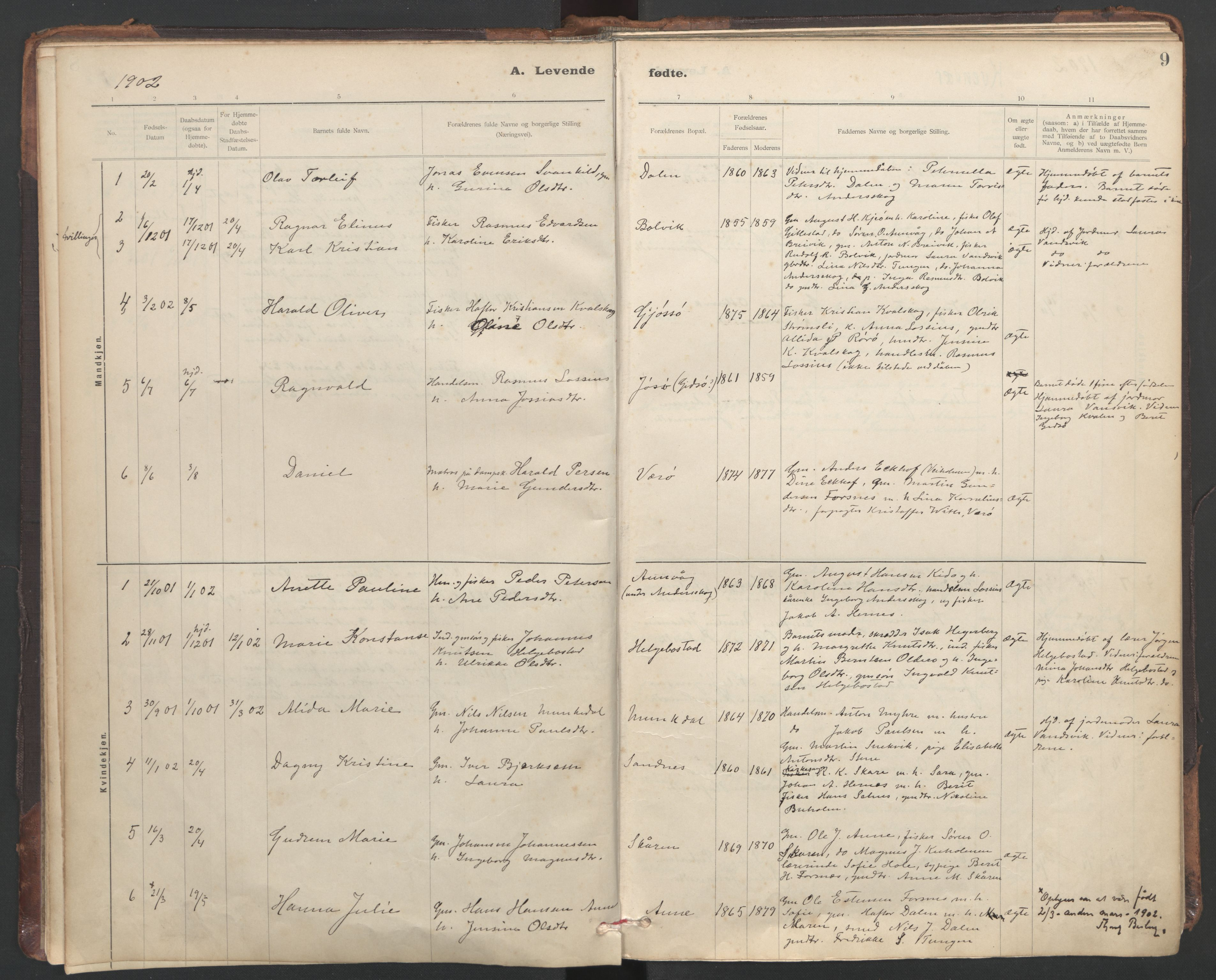 SAT, Ministerialprotokoller, klokkerbøker og fødselsregistre - Sør-Trøndelag, 635/L0552: Ministerialbok nr. 635A02, 1899-1919, s. 9